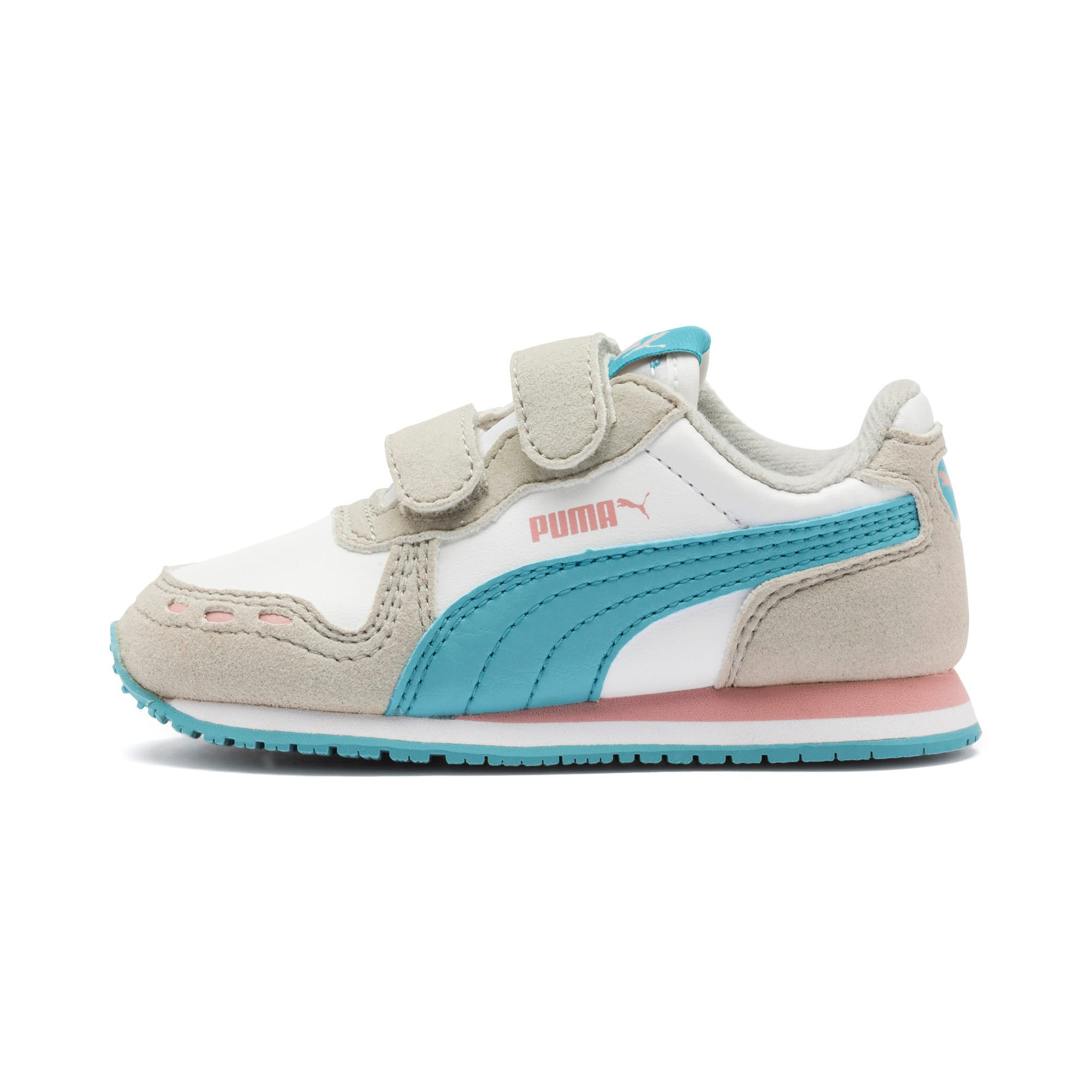 Thumbnail 1 of Cabana Racer SL Baby Trainers, Puma White-Milky Blue, medium