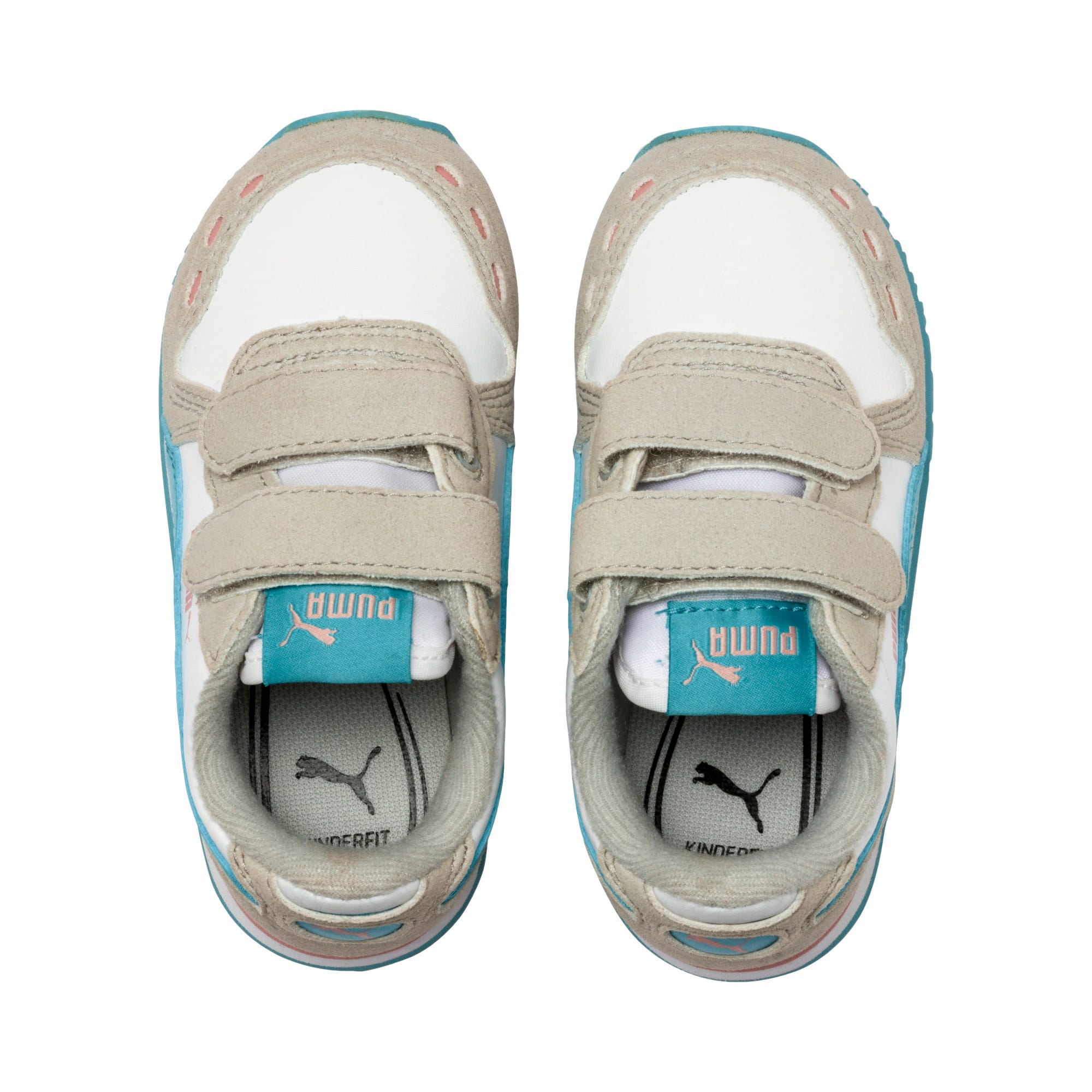 Thumbnail 6 of Cabana Racer SL Baby Trainers, Puma White-Milky Blue, medium