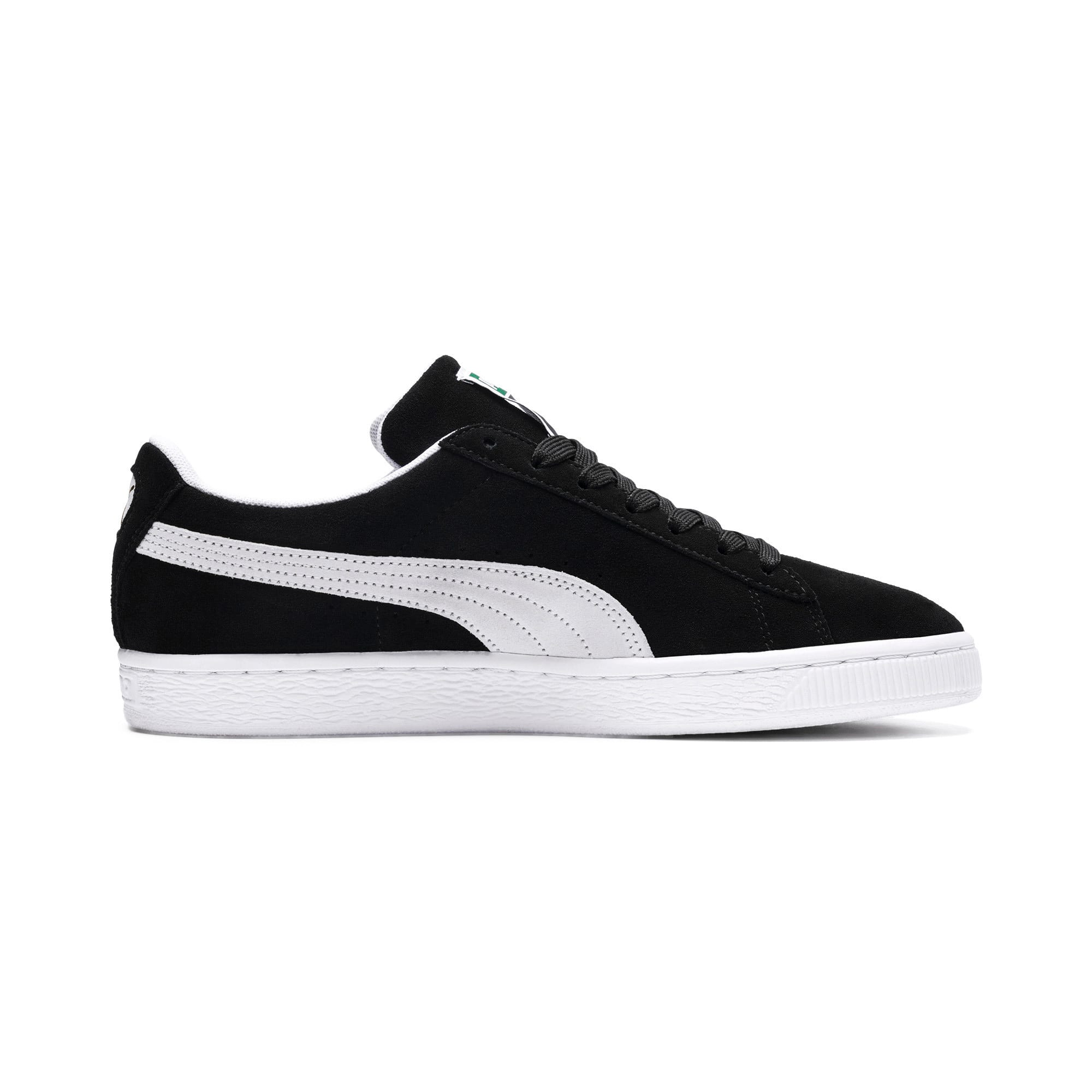 Thumbnail 5 of Suede Classic+ Sneakers, black-white, medium