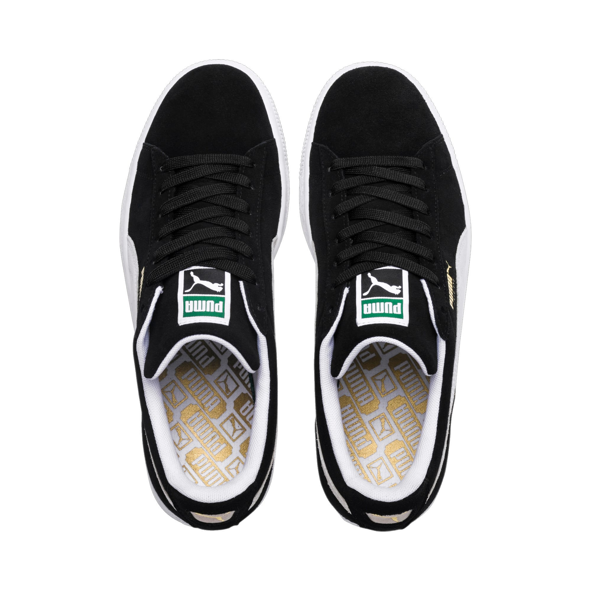 Thumbnail 6 of Suede Classic+ Sneakers, black-white, medium