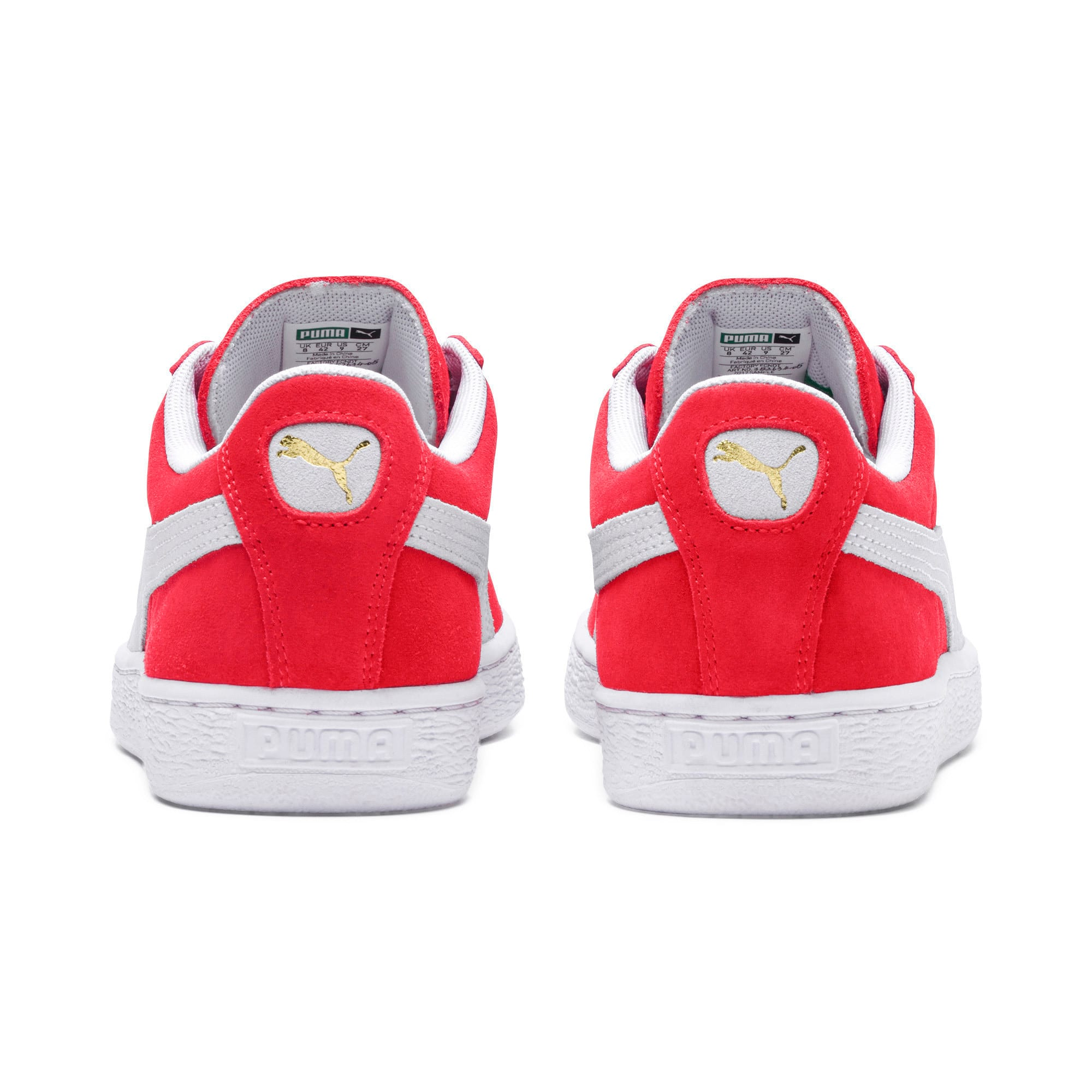Thumbnail 3 of Suede Classic+ Sneakers, team regal red-white, medium