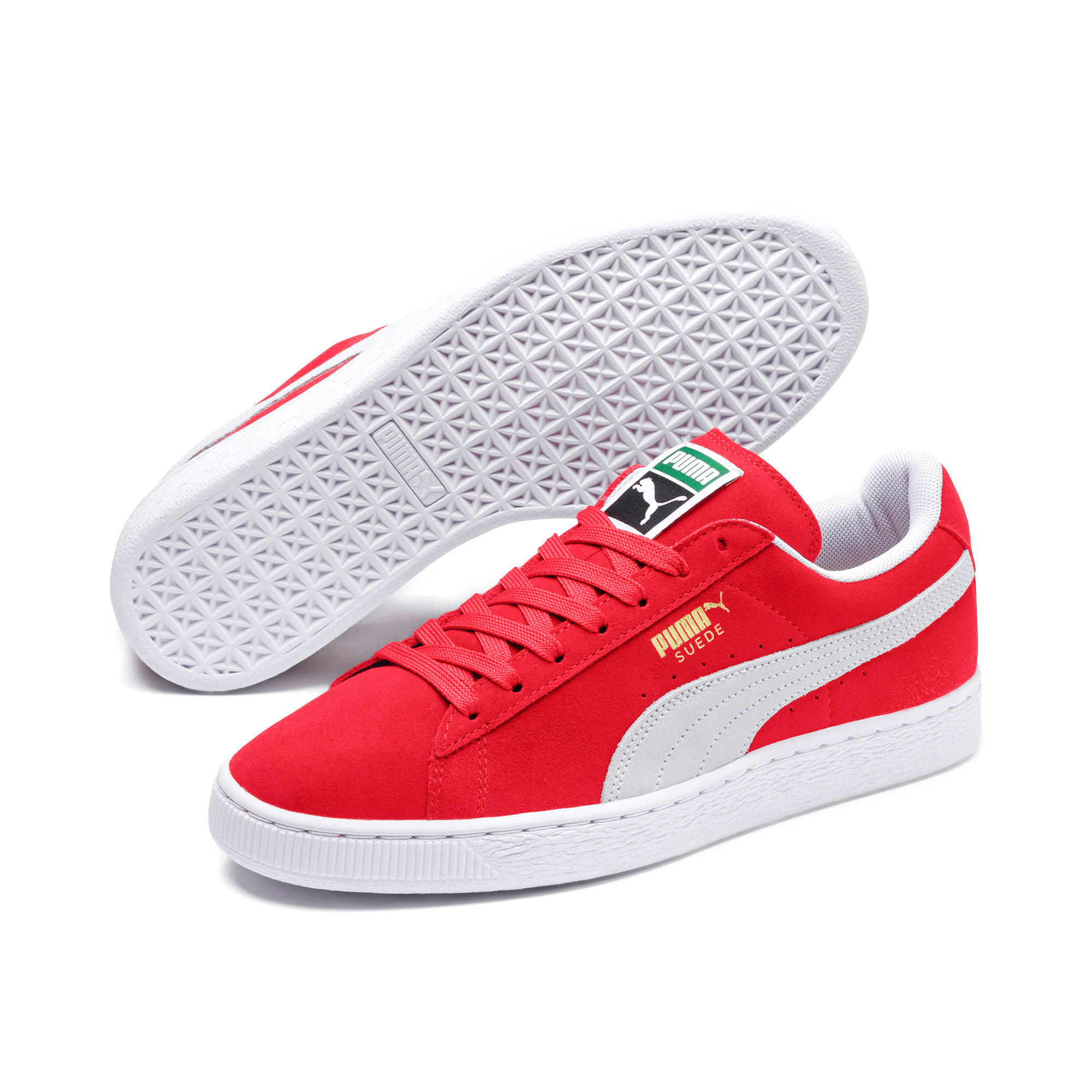 Thumbnail 2 of Suede Classic+ Sneakers, team regal red-white, medium