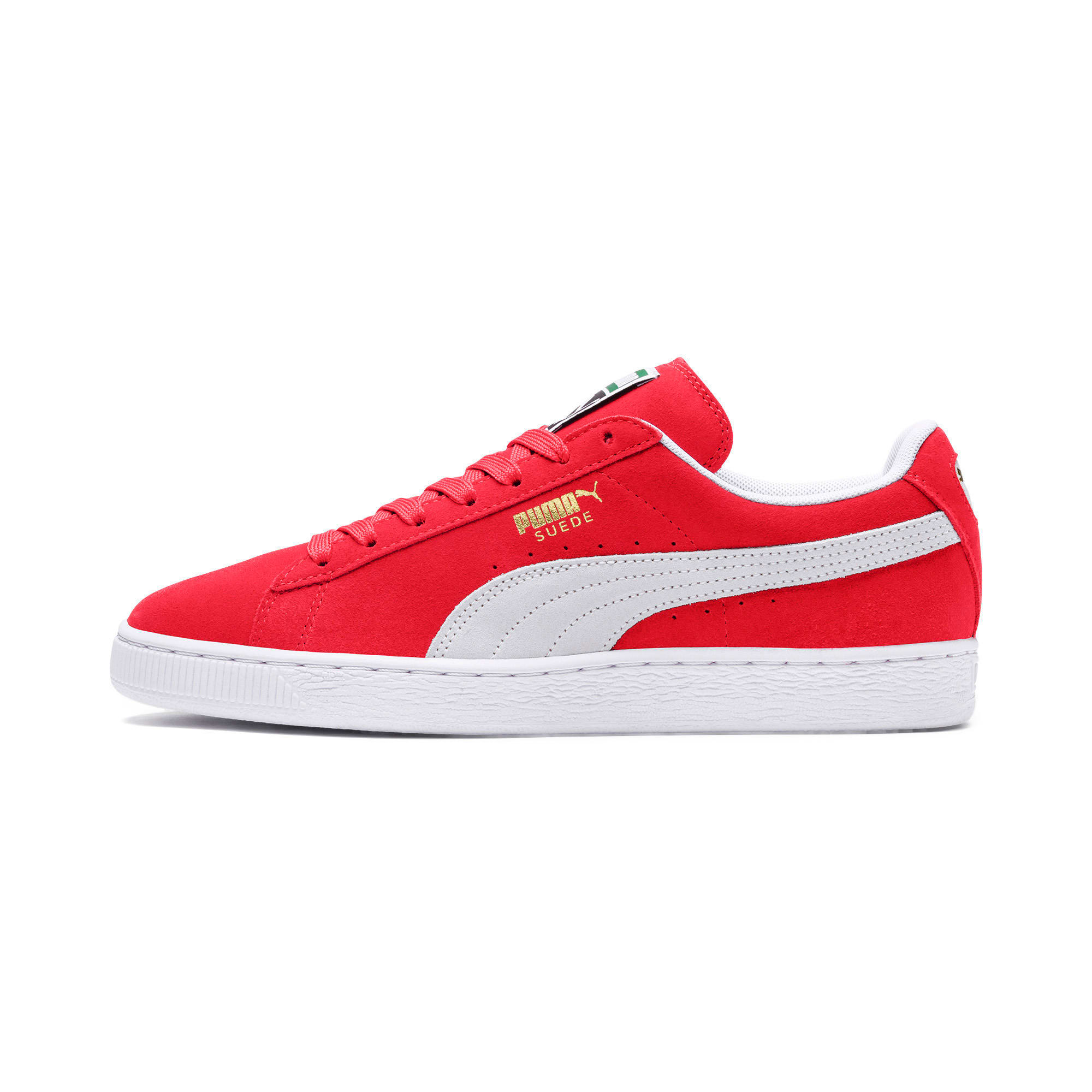 Thumbnail 1 of Suede Classic+ Sneakers, team regal red-white, medium