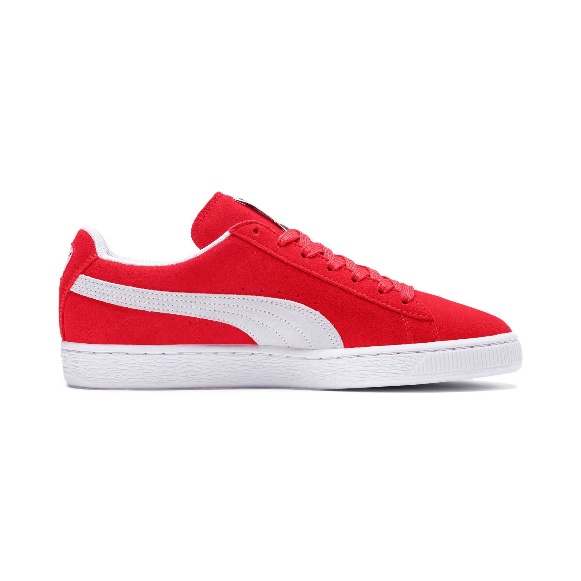 Thumbnail 5 of Suede Classic+ Sneakers, team regal red-white, medium
