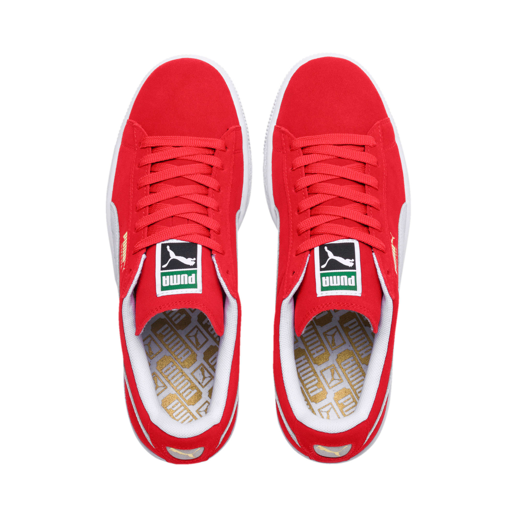 Thumbnail 6 of Suede Classic+ Sneakers, team regal red-white, medium