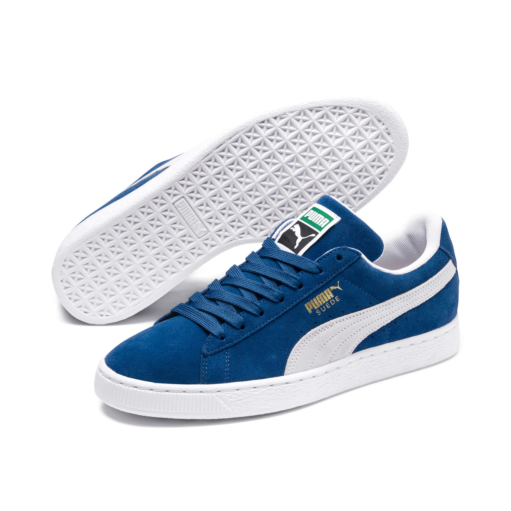 Thumbnail 2 of Suede Classic+ Sneakers, olympian blue-white, medium