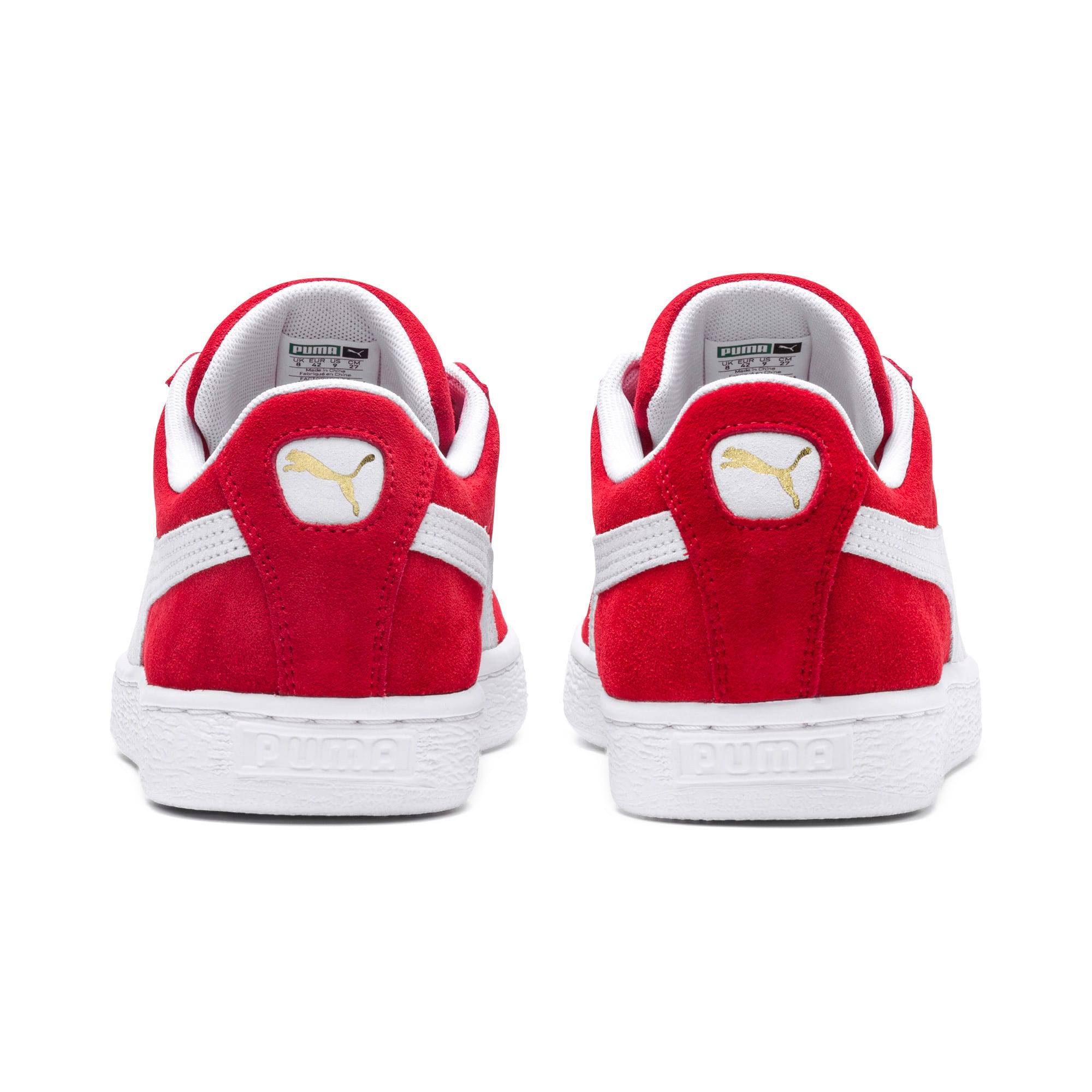 Thumbnail 3 of Suede Classic+ Sneakers, high risk red-white, medium