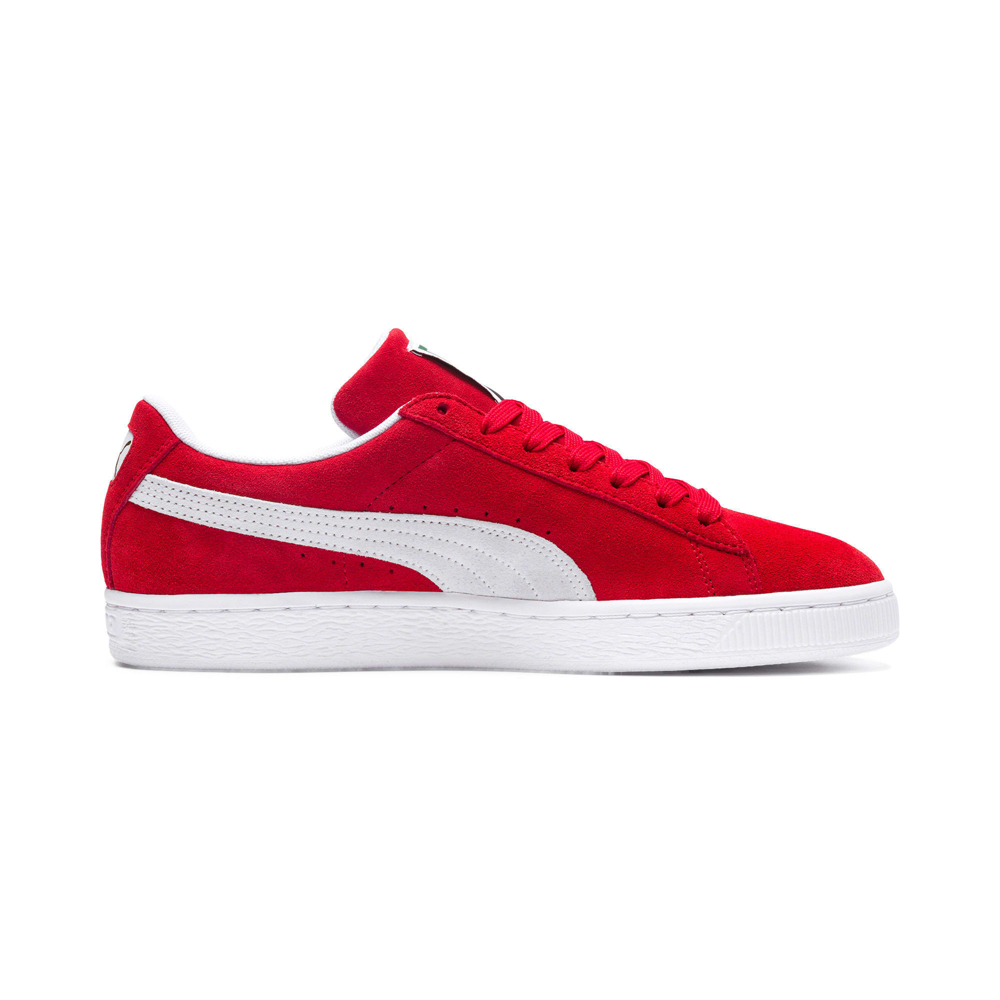 Thumbnail 5 of Suede Classic+ Sneakers, high risk red-white, medium