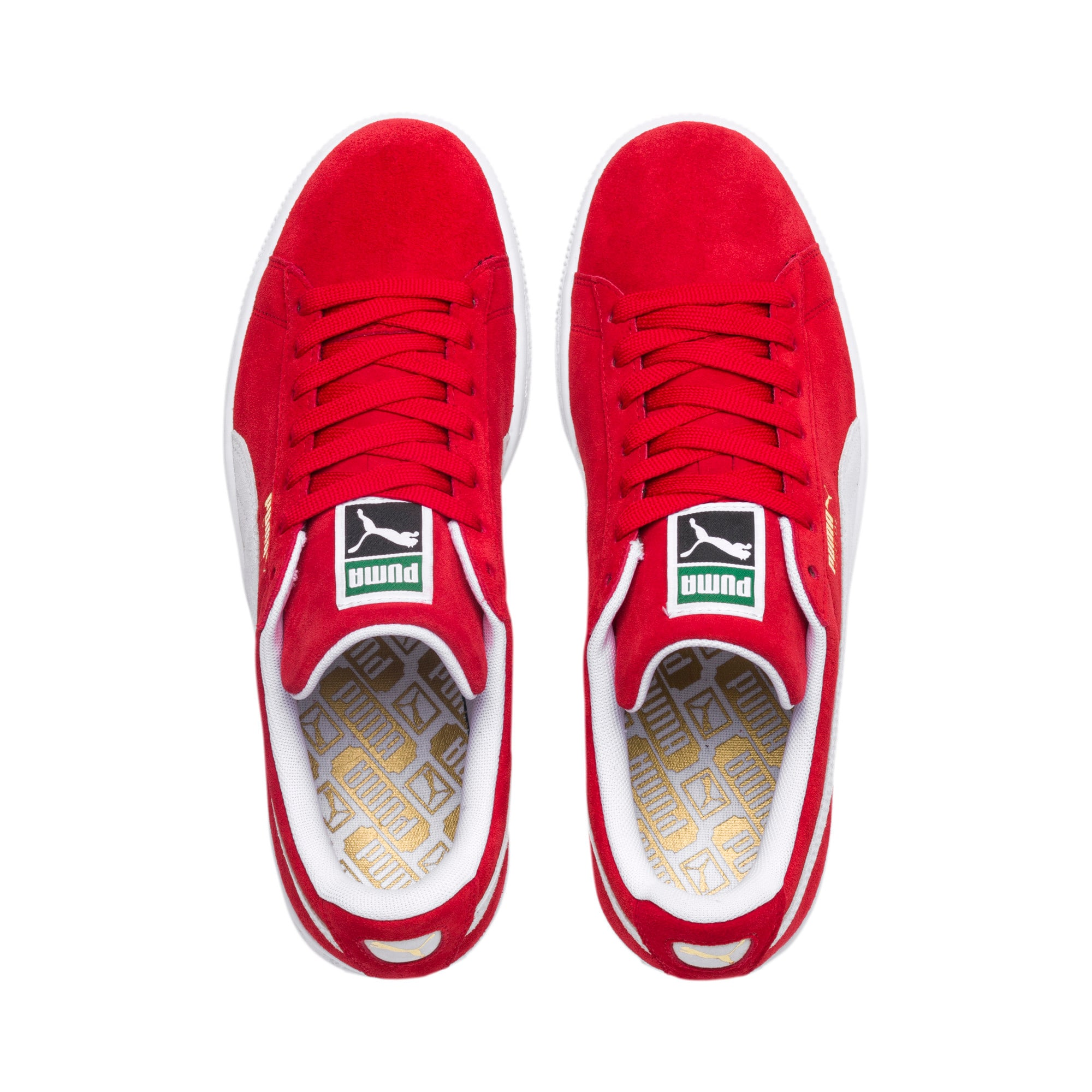 Thumbnail 6 of Suede Classic+ Sneakers, high risk red-white, medium
