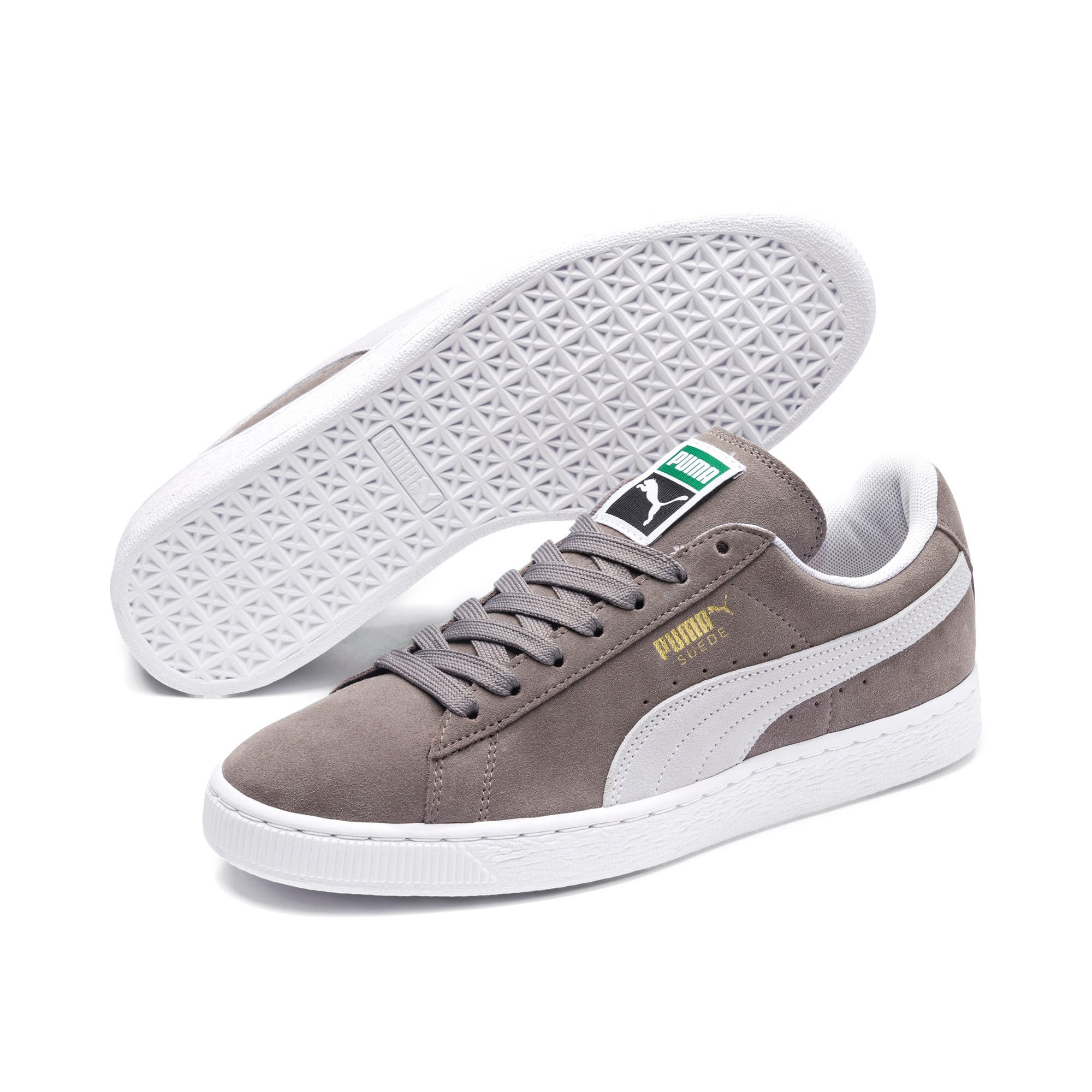 Thumbnail 2 of Suede Classic+ Sneakers, steeple gray-white, medium