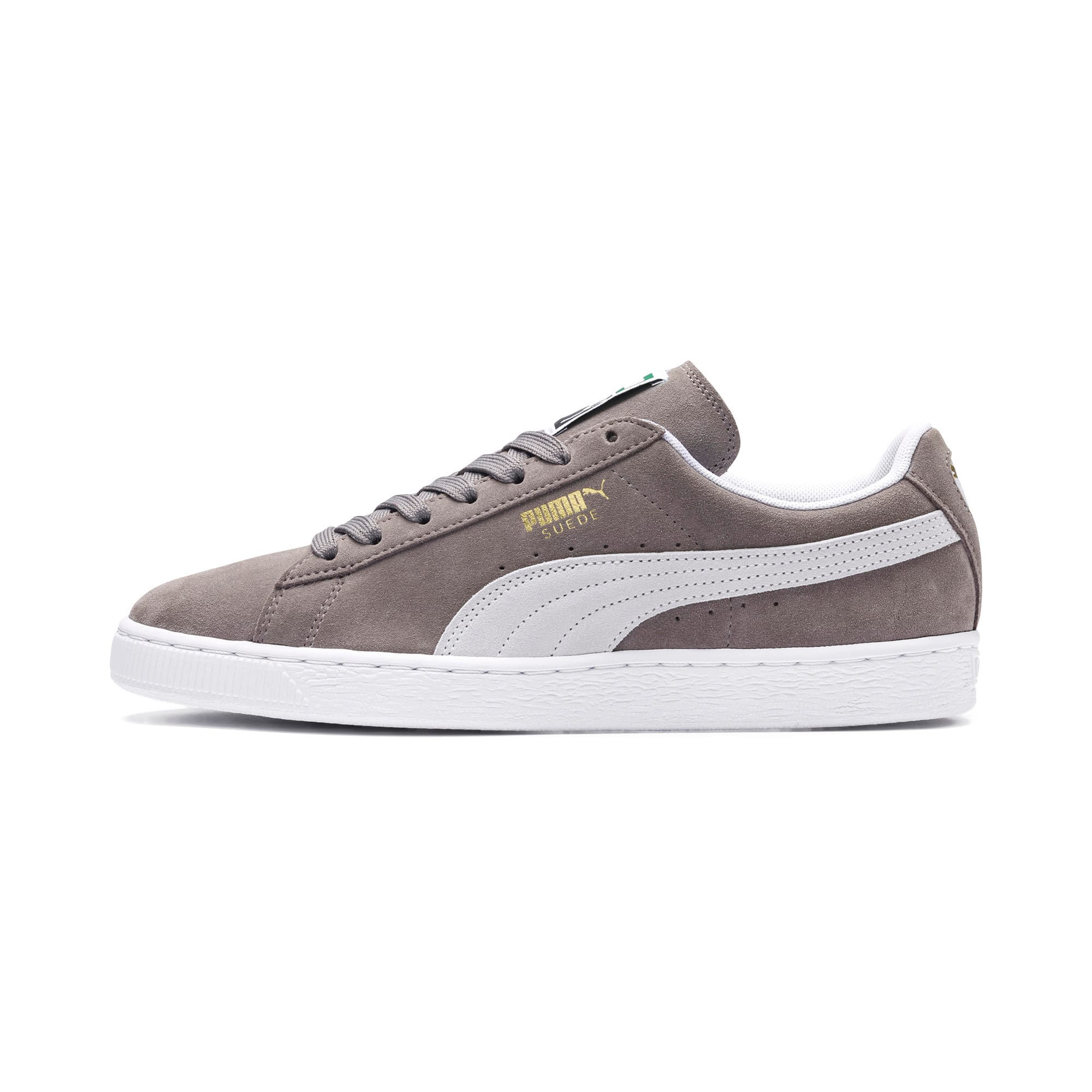 Thumbnail 1 of Suede Classic+ Sneakers, steeple gray-white, medium