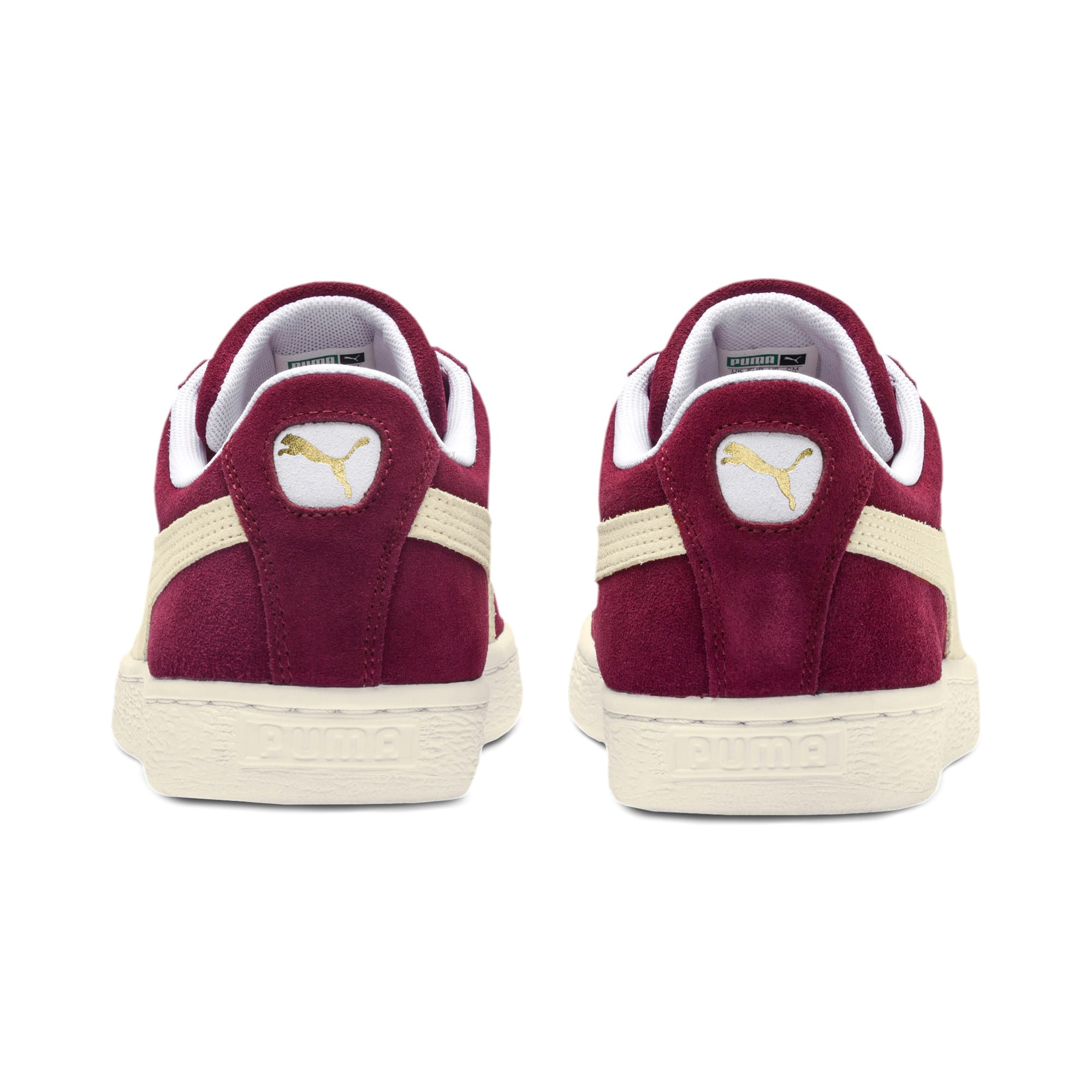 Thumbnail 3 of Suede Classic+ Men's Trainers, cabernet-white, medium