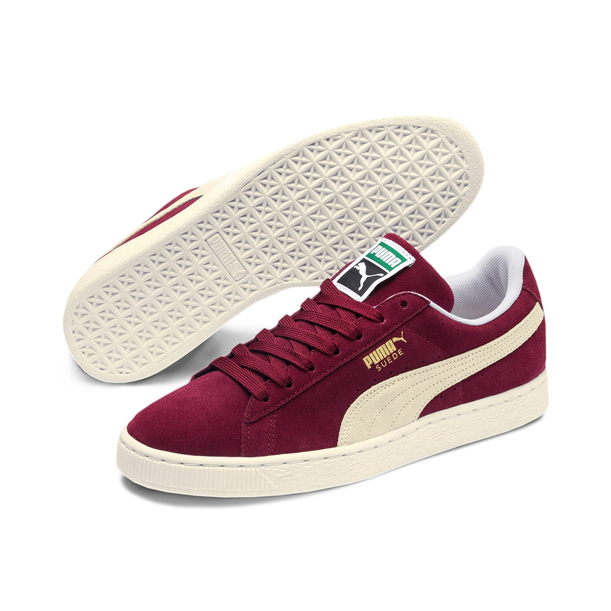 Thumbnail 2 of Suede Classic+ Men's Trainers, cabernet-white, medium