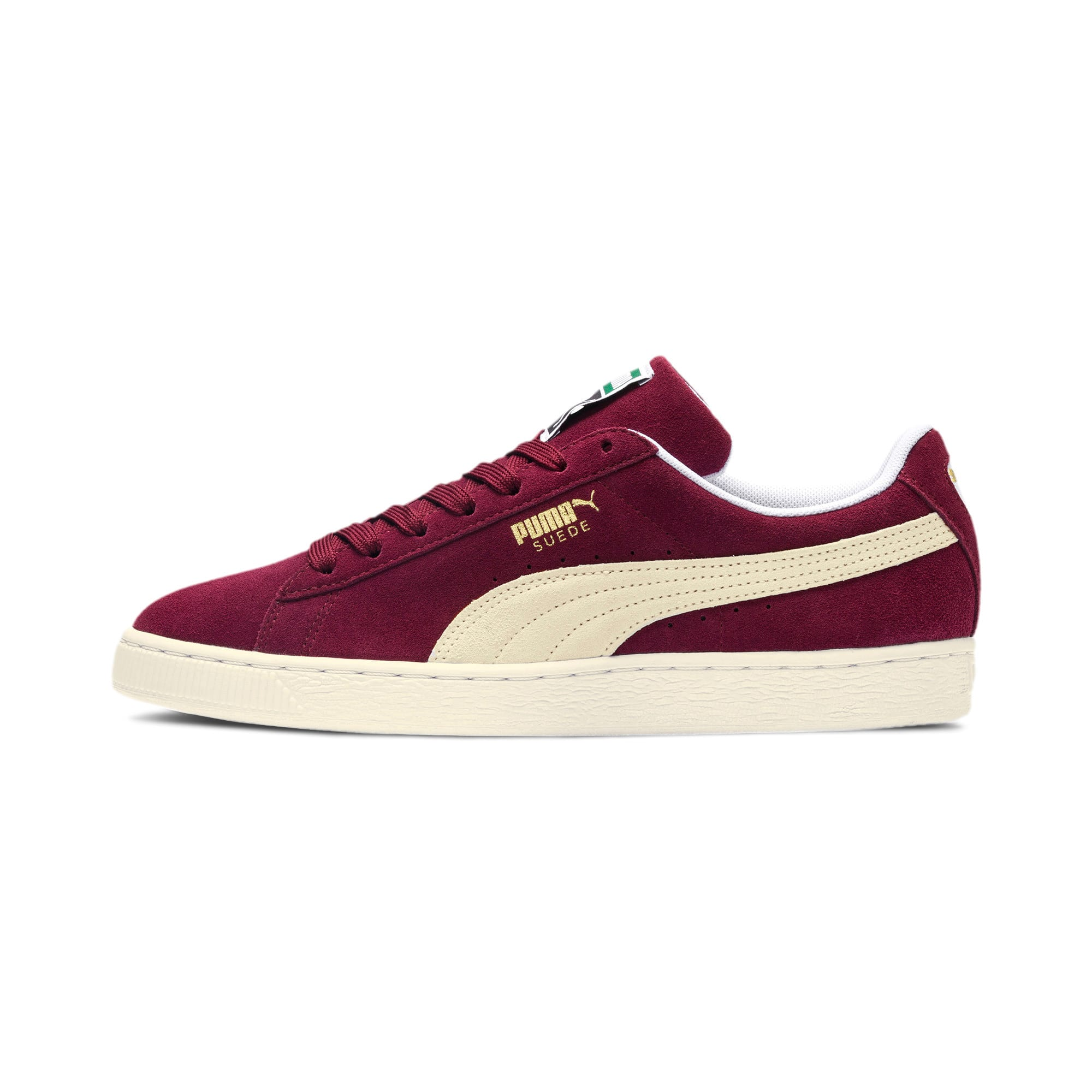Thumbnail 1 of Suede Classic+ Men's Trainers, cabernet-white, medium