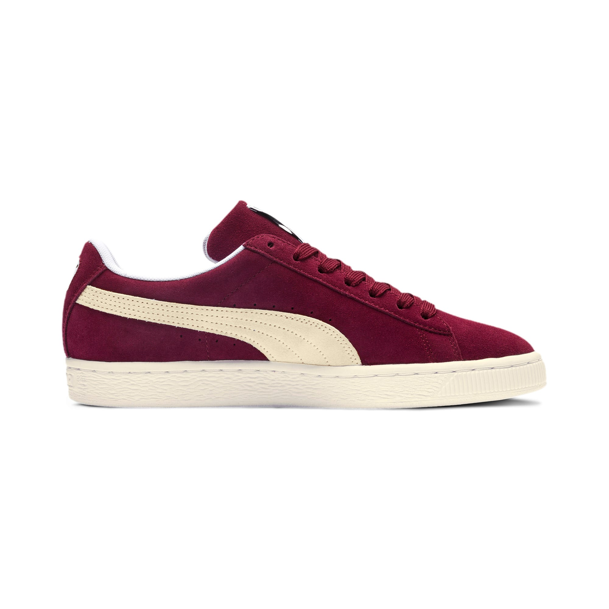 Thumbnail 5 of Suede Classic+ Sneaker, cabernet-white, medium