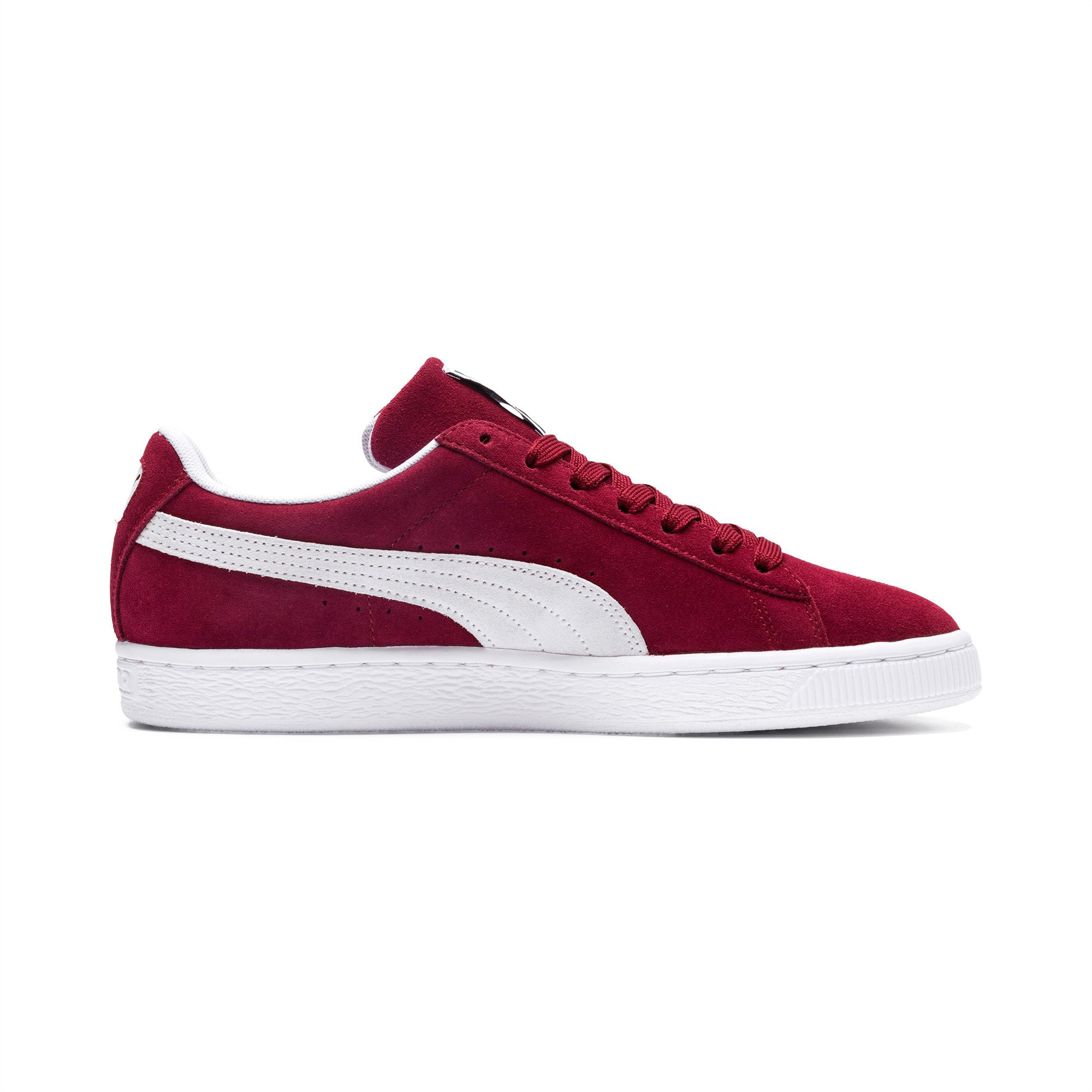 Thumbnail 5 of Suede Classic+ Sneakers, cabernet-white, medium
