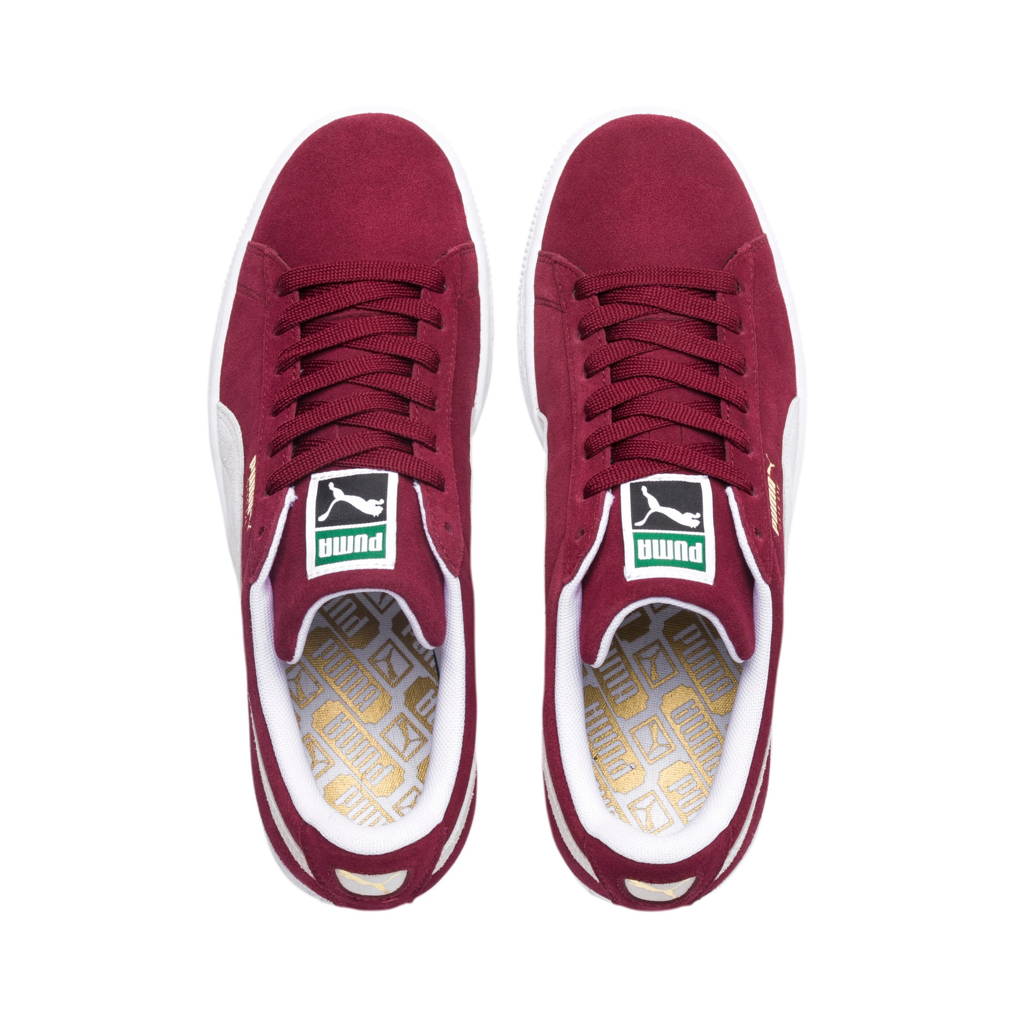 Thumbnail 6 of Suede Classic+ Men's Trainers, cabernet-white, medium