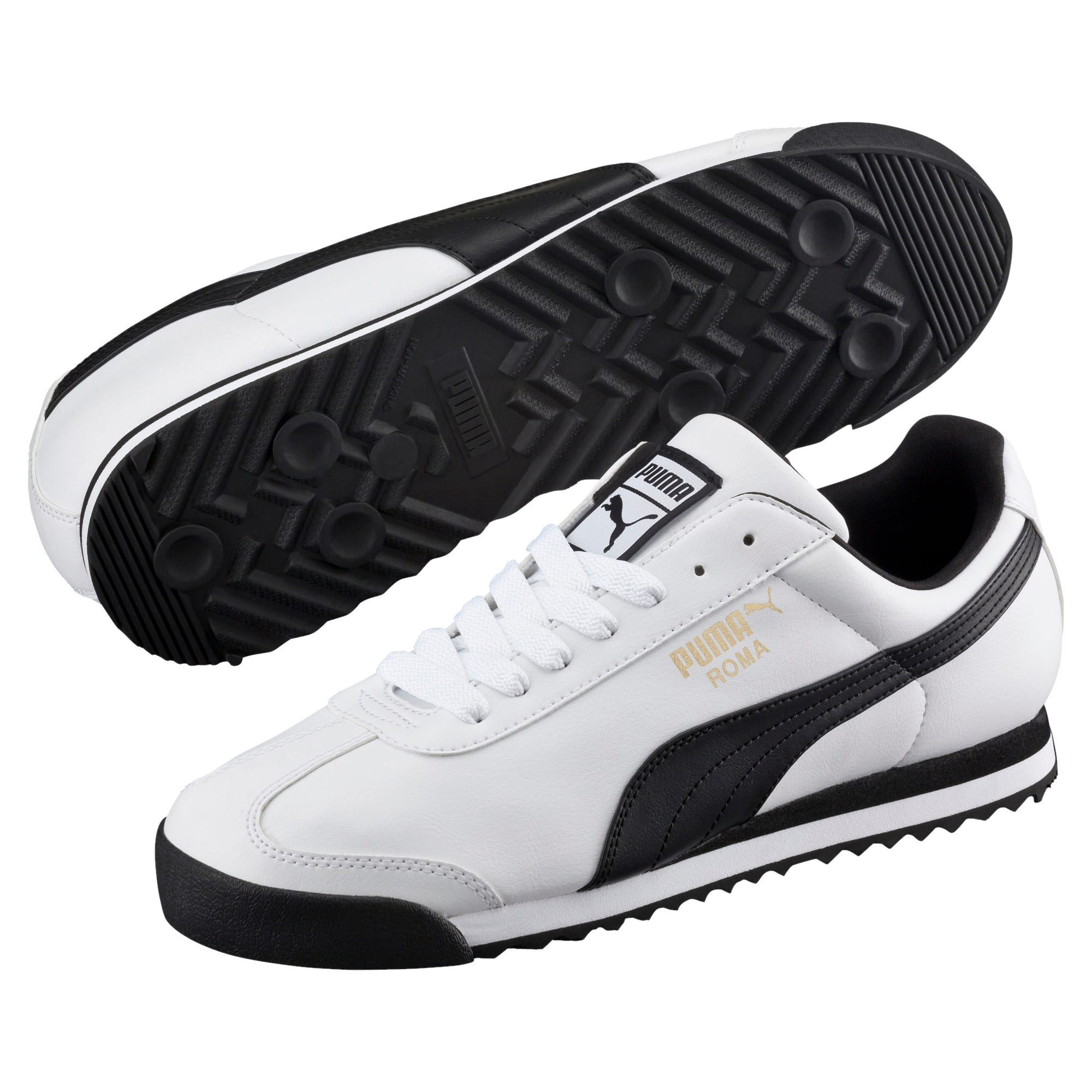 Thumbnail 2 of Roma Basic Trainers, white-black, medium