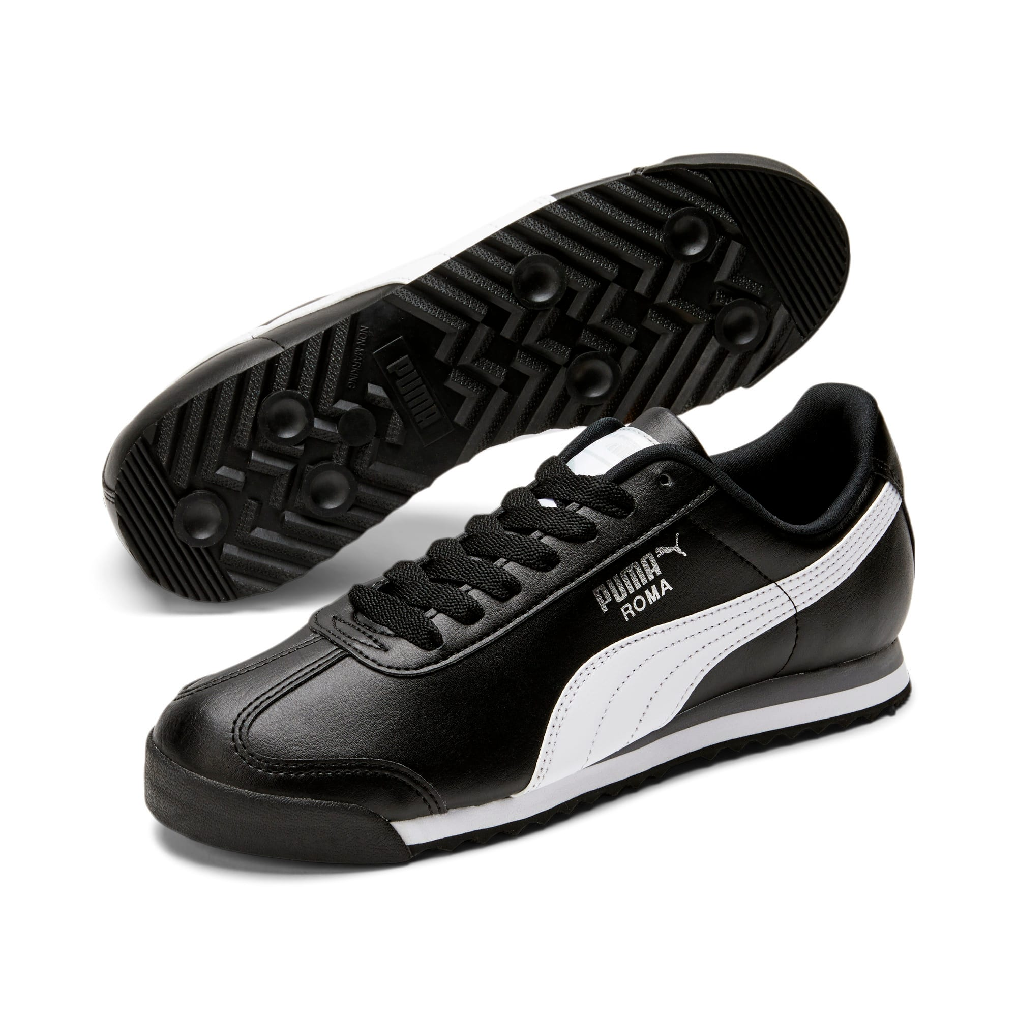 Thumbnail 2 of Roma Basic Men's Sneakers, black-white-puma silver, medium
