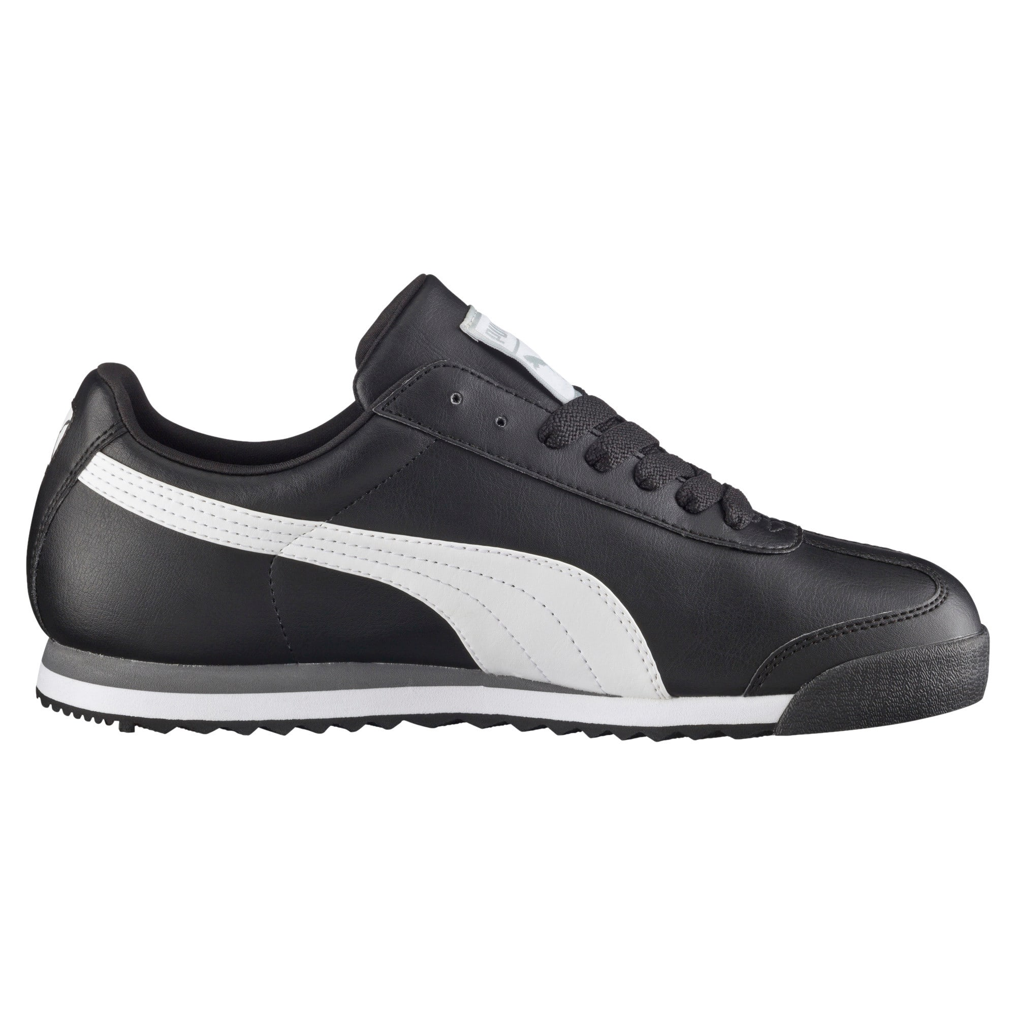 Thumbnail 4 of Roma Basic Men's Sneakers, black-white-puma silver, medium