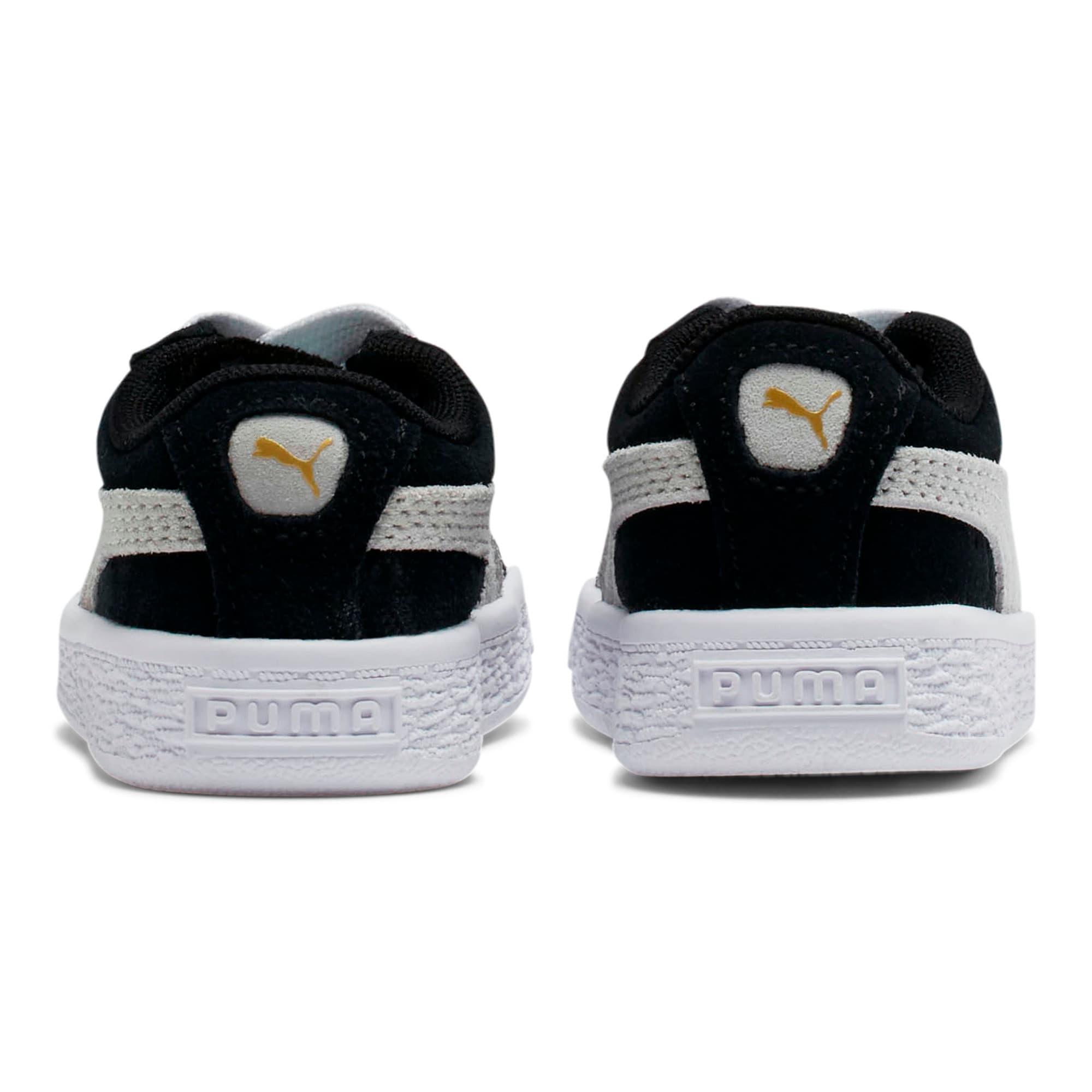 Thumbnail 4 of Puma Suede Toddler Shoes, black-white, medium