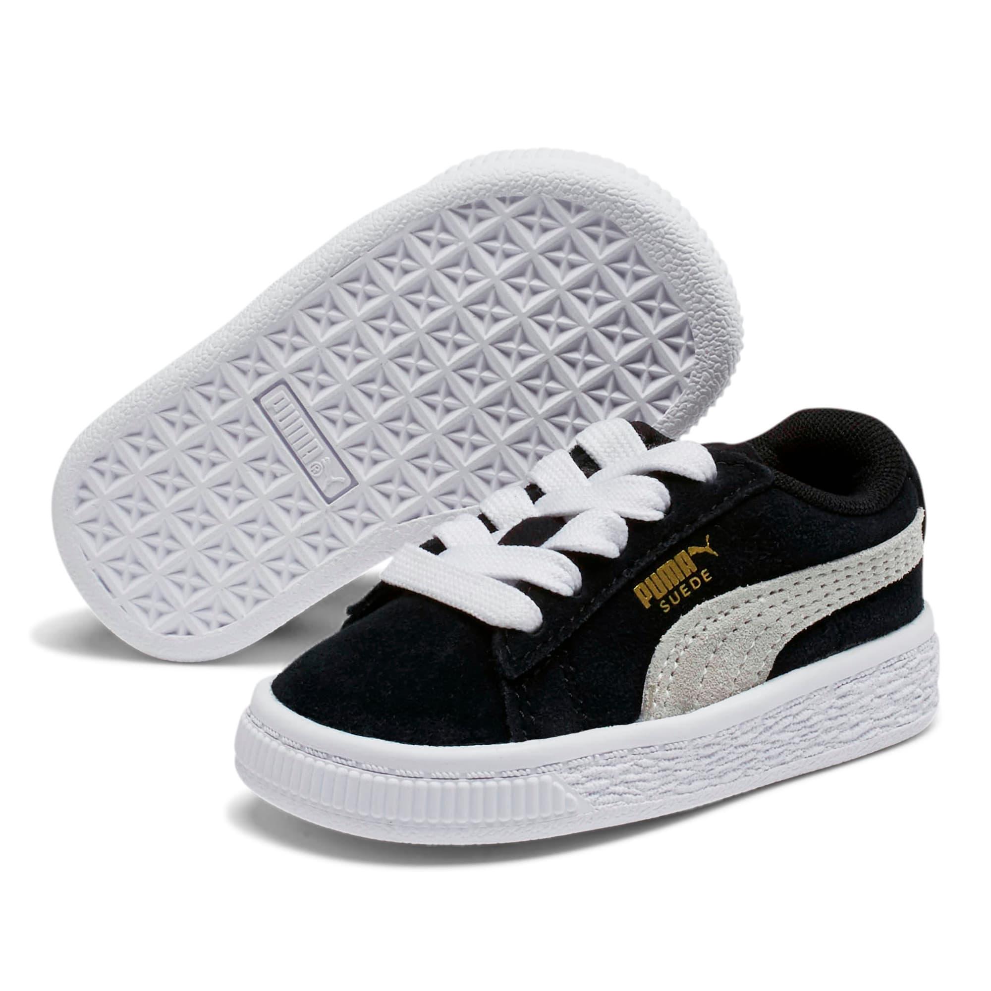 Thumbnail 2 of Puma Suede Toddler Shoes, black-white, medium