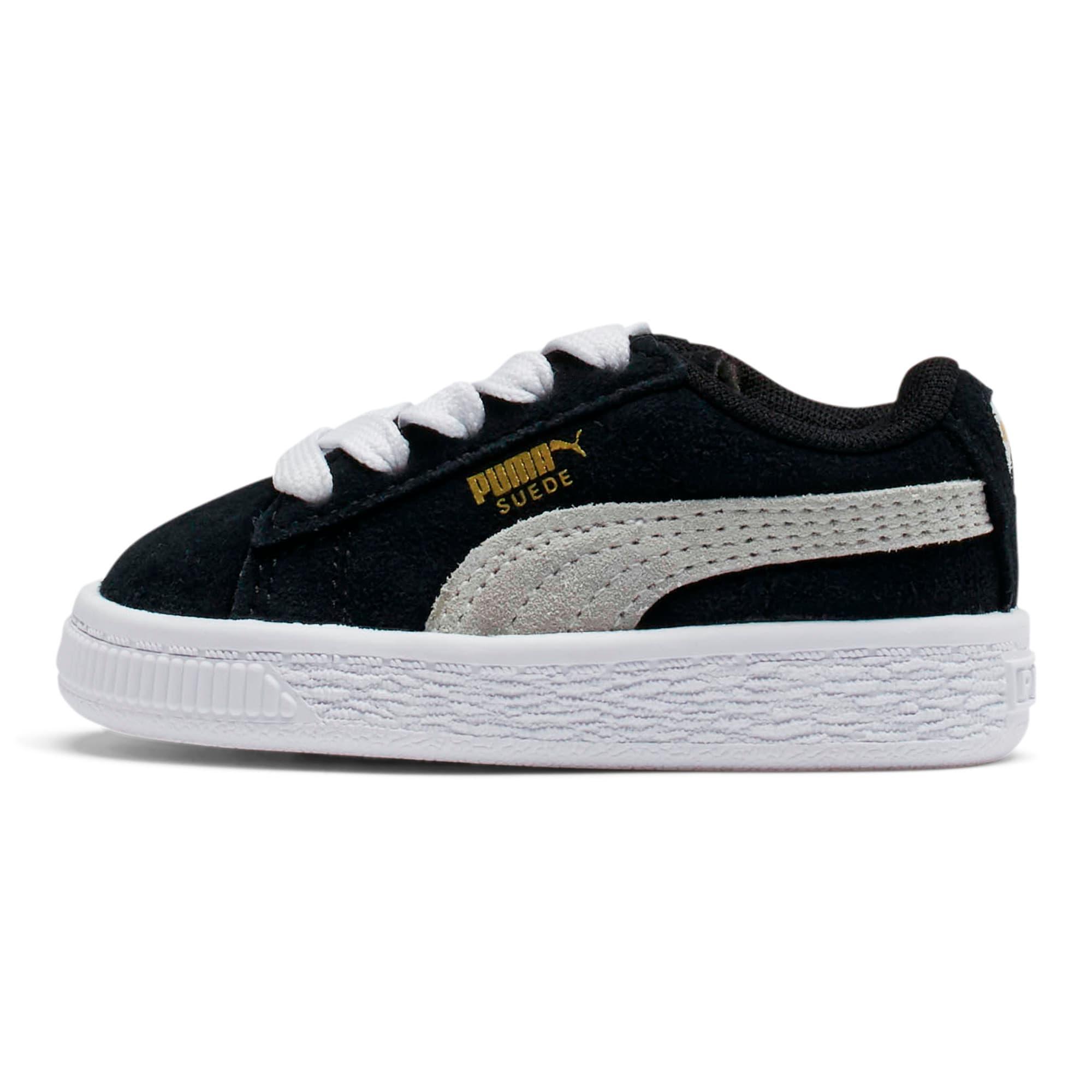 Thumbnail 1 of Puma Suede Toddler Shoes, black-white, medium