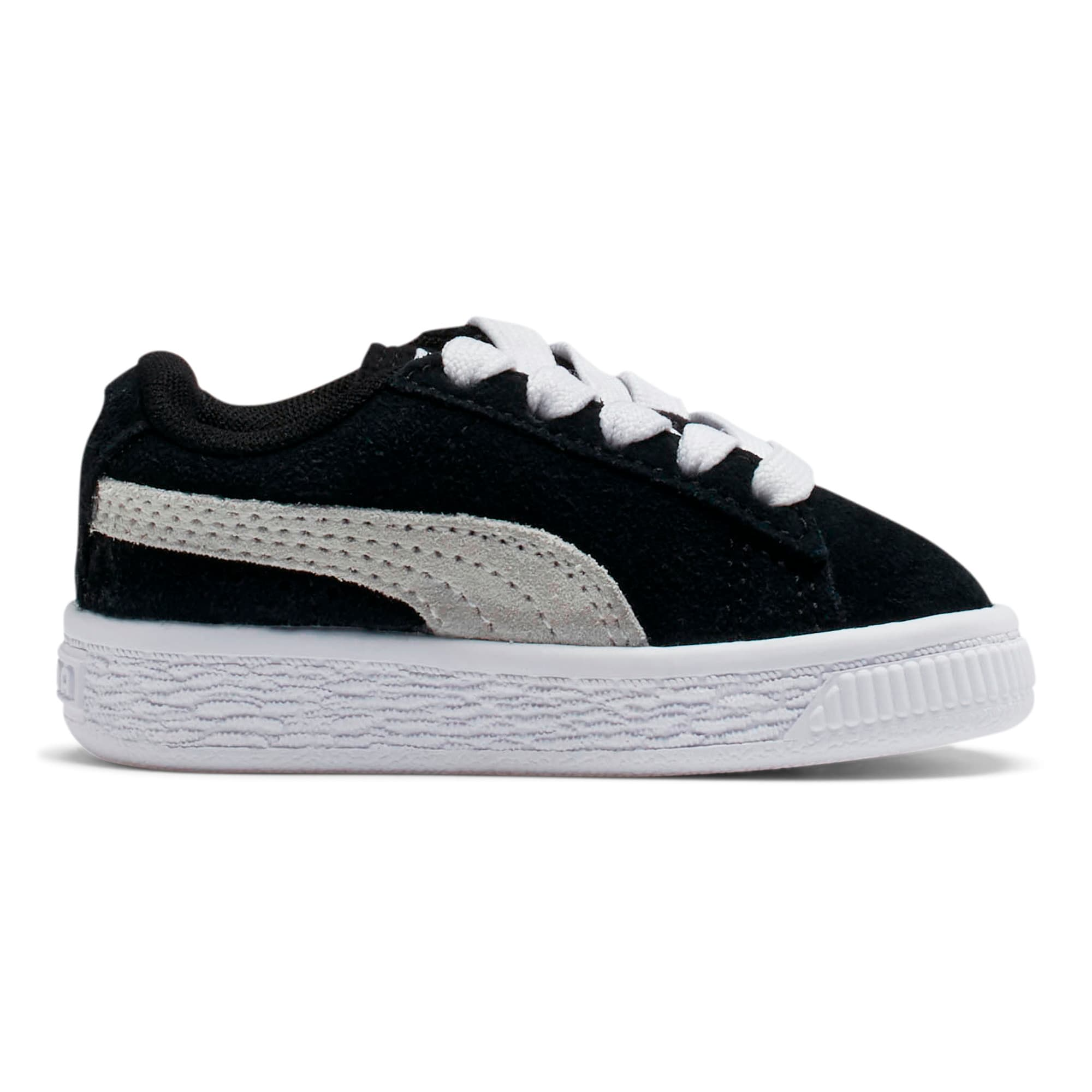 Thumbnail 5 of Puma Suede Toddler Shoes, black-white, medium