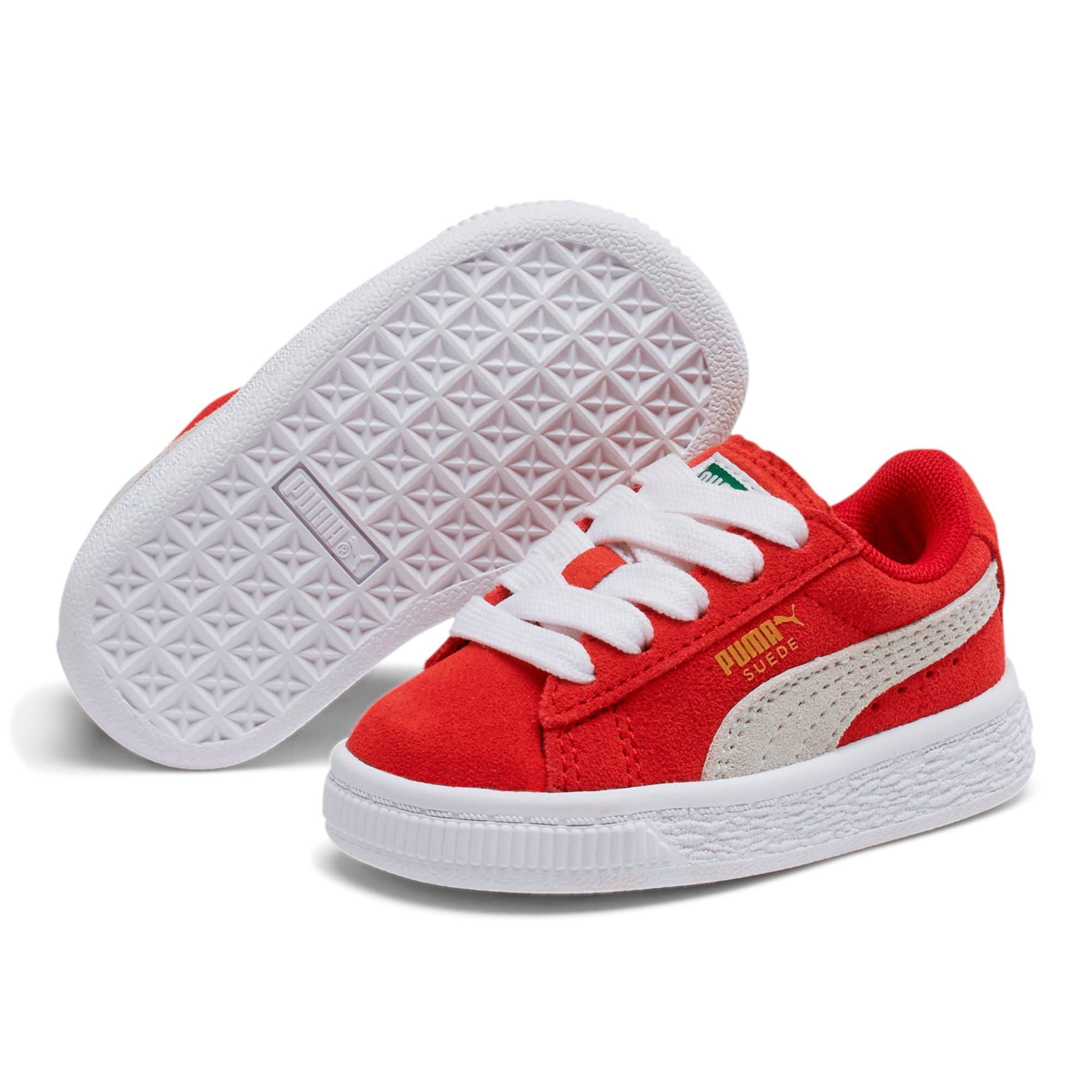 Miniatura 2 de Zapatos Puma Suede para bebés, high risk red-white, mediano