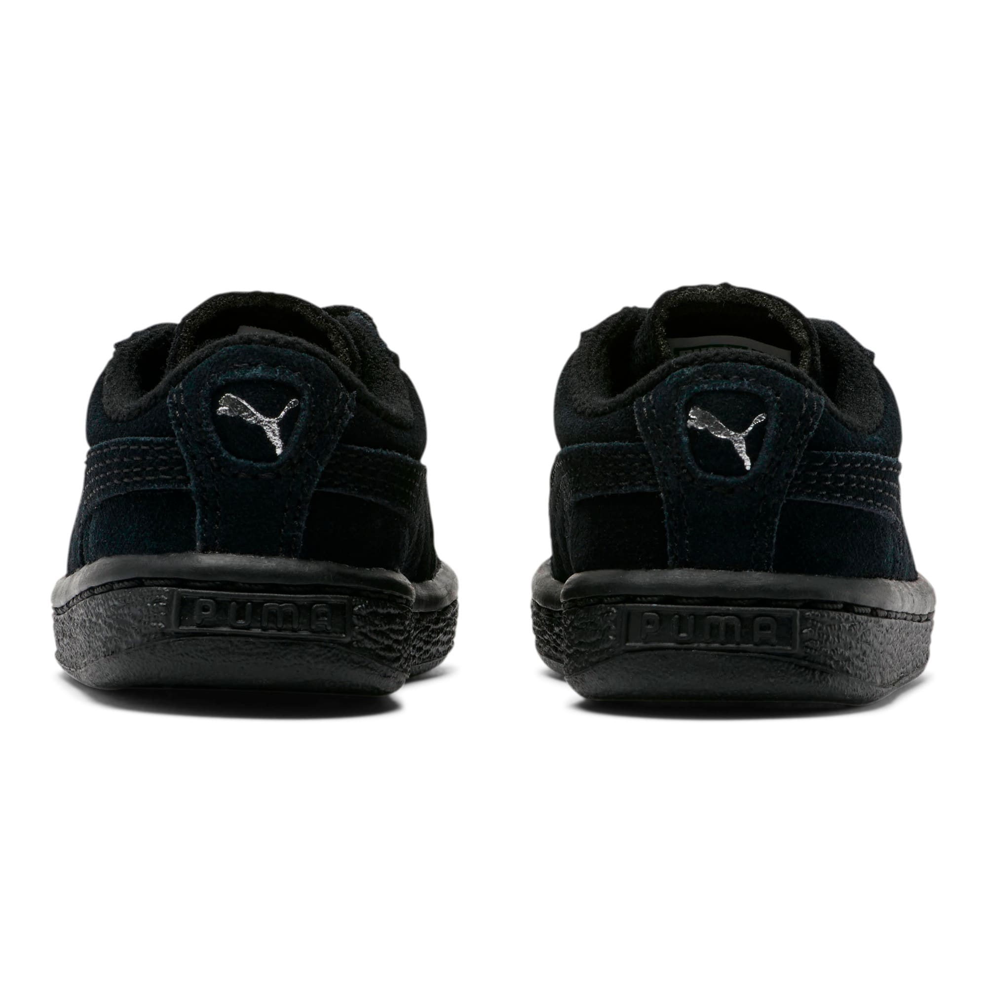 Thumbnail 3 of Puma Suede Toddler Shoes, black-puma silver, medium