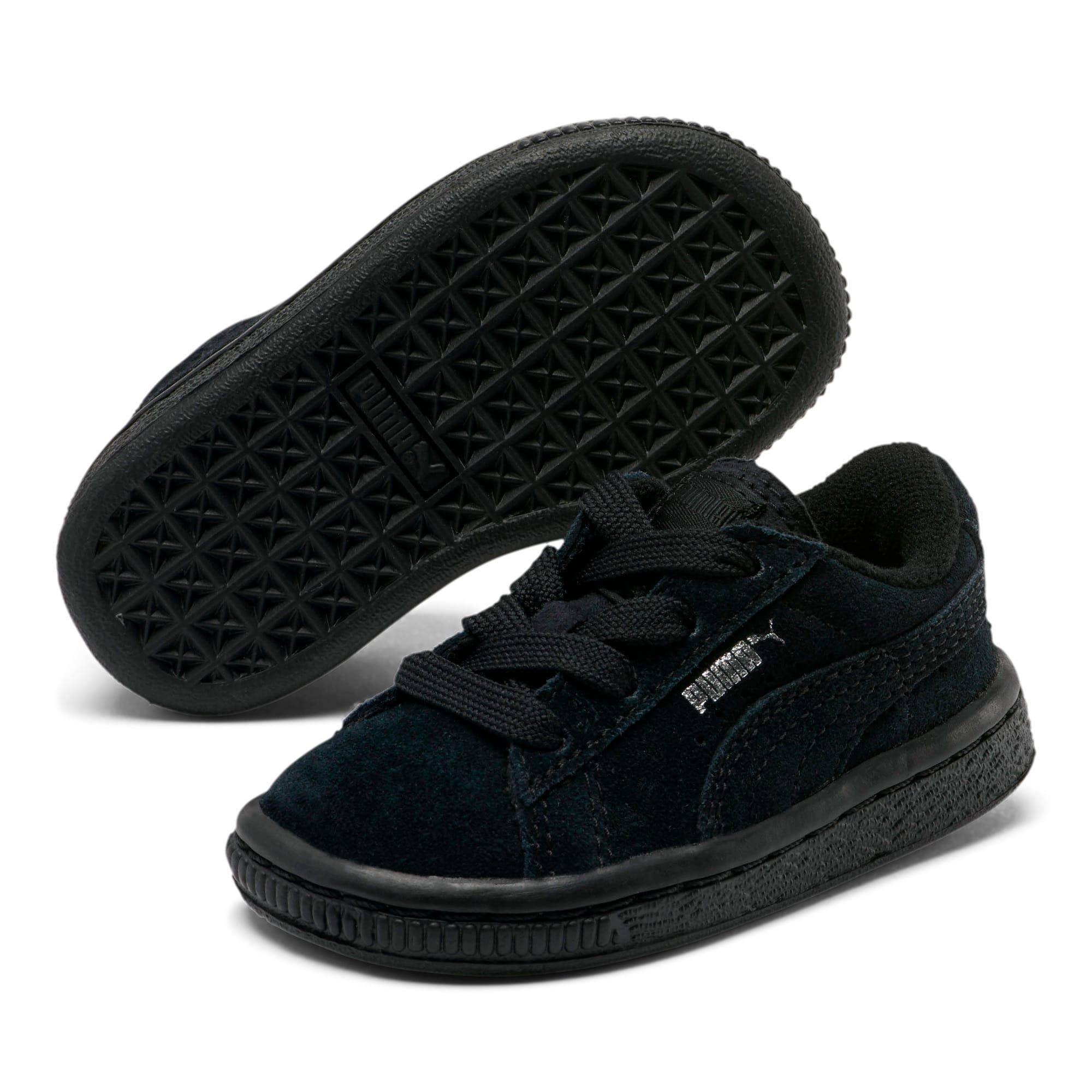 Thumbnail 5 of Puma Suede Toddler Shoes, black-puma silver, medium