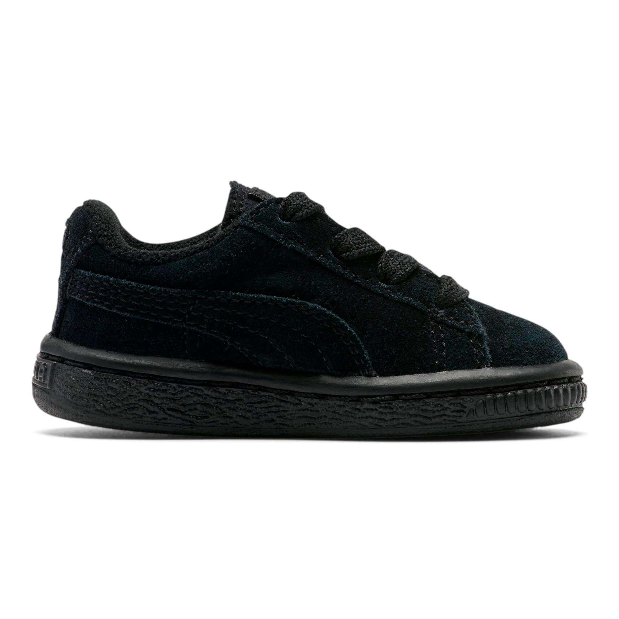 Thumbnail 4 of Puma Suede Toddler Shoes, black-puma silver, medium