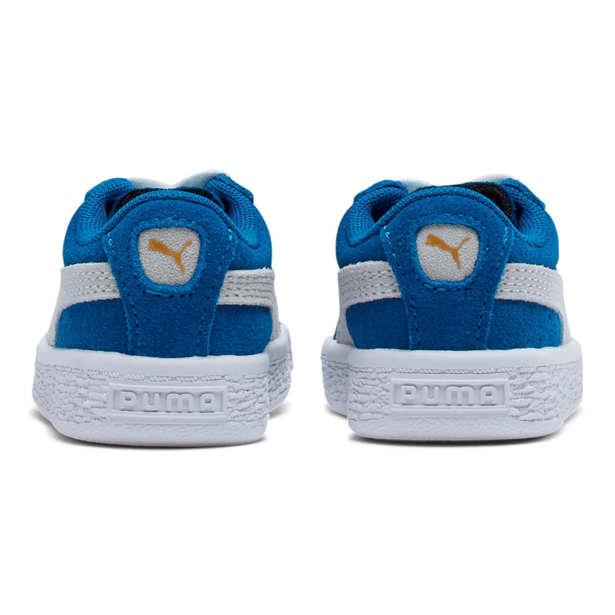 Thumbnail 4 of Puma Suede Toddler Shoes, Snorkel Blue-Puma White, medium