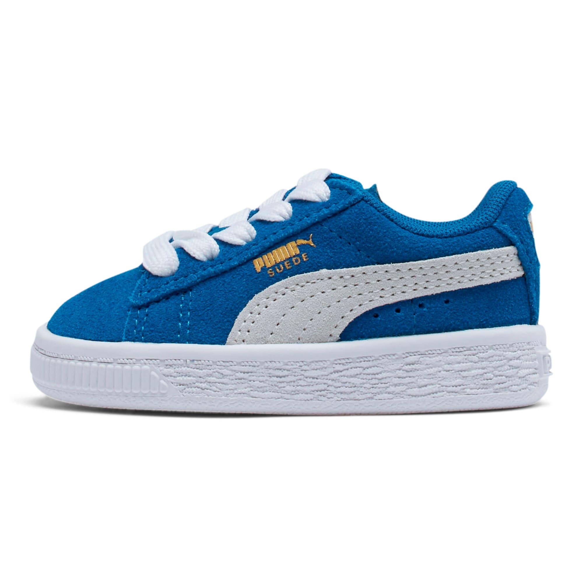 Thumbnail 1 of Puma Suede Toddler Shoes, Snorkel Blue-Puma White, medium