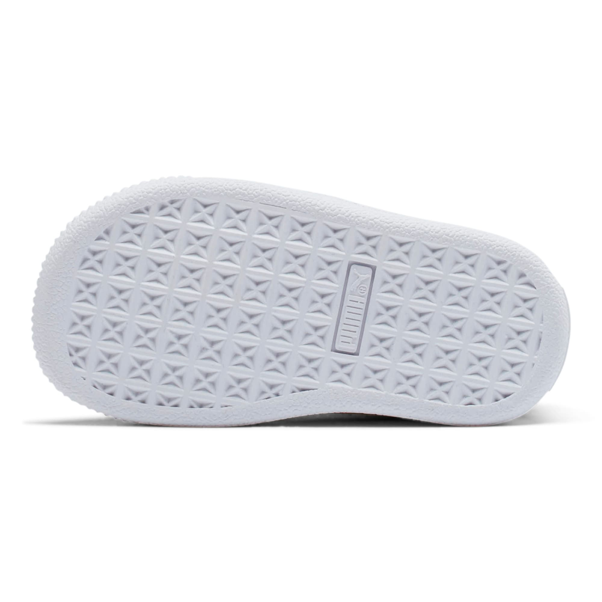 Thumbnail 3 of Puma Suede Toddler Shoes, Snorkel Blue-Puma White, medium