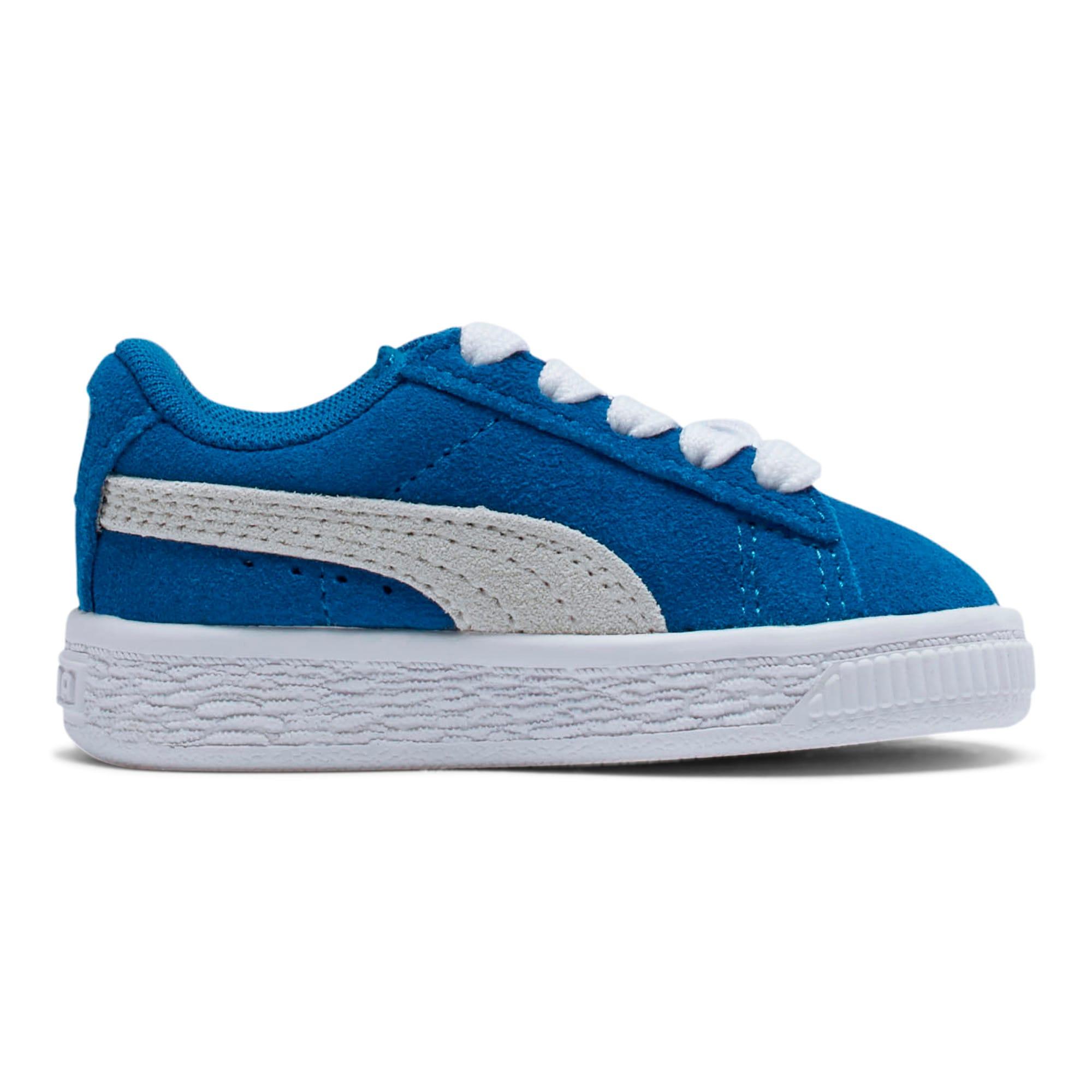 Thumbnail 5 of Puma Suede Toddler Shoes, Snorkel Blue-Puma White, medium