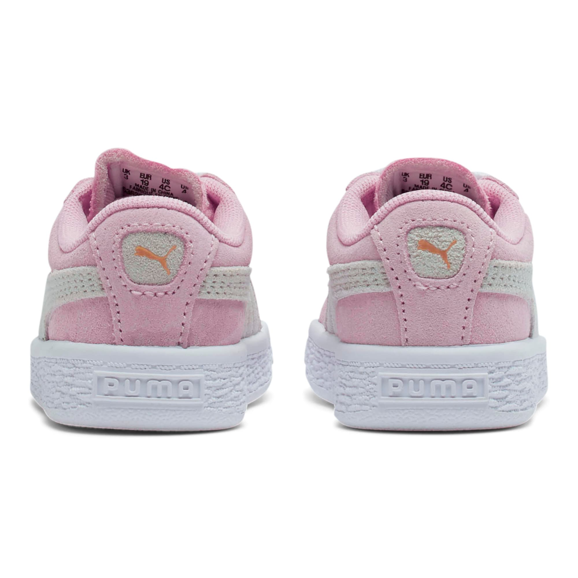 Thumbnail 4 of Puma Suede Toddler Shoes, Pink Lady-Puma White, medium