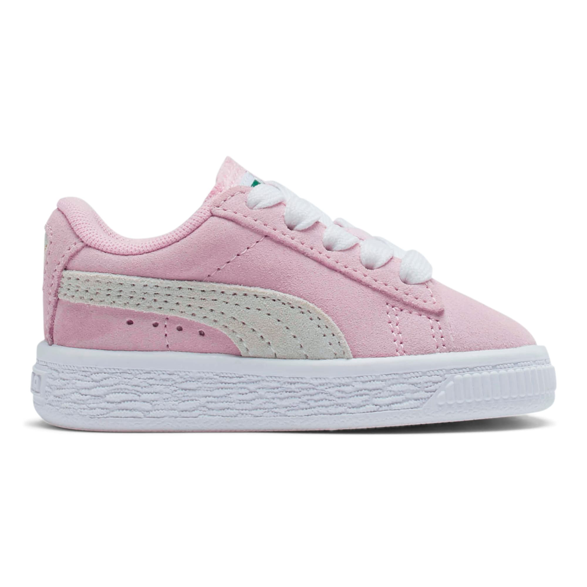 Thumbnail 5 of Puma Suede Toddler Shoes, Pink Lady-Puma White, medium