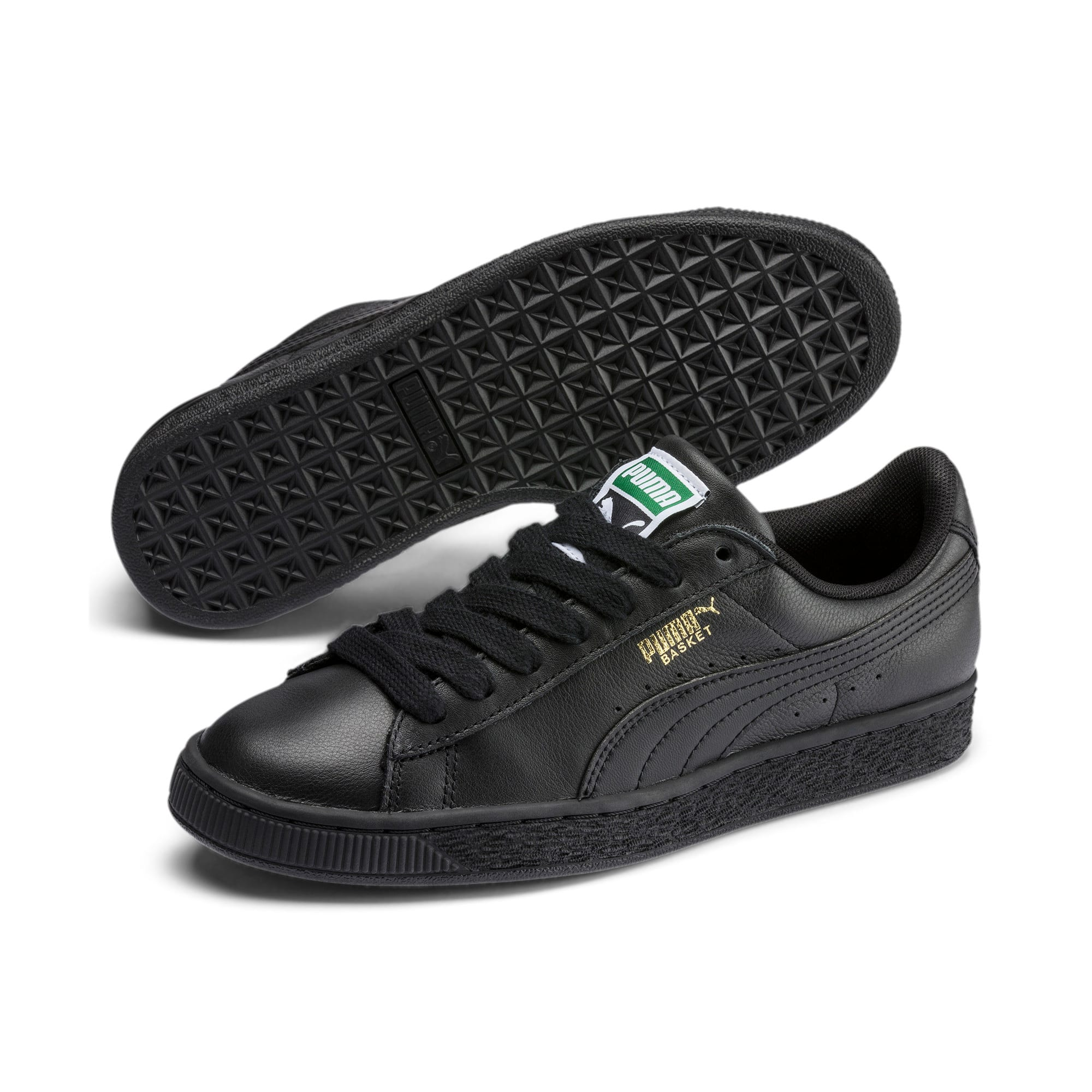 Heritage Basket Classic Sneakers, black-team gold, large