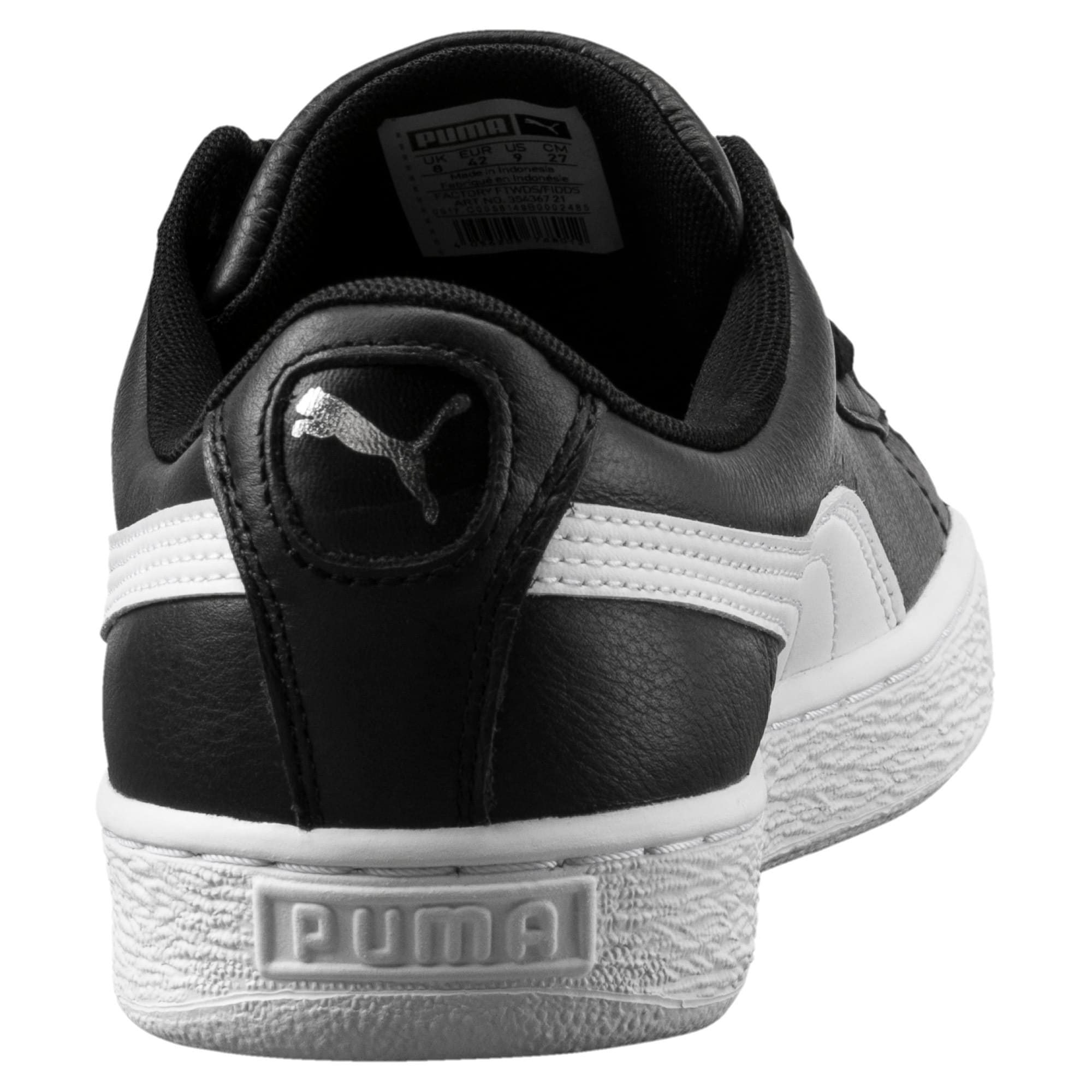 Thumbnail 3 of Heritage Basket Classic Sneaker, black-white, medium