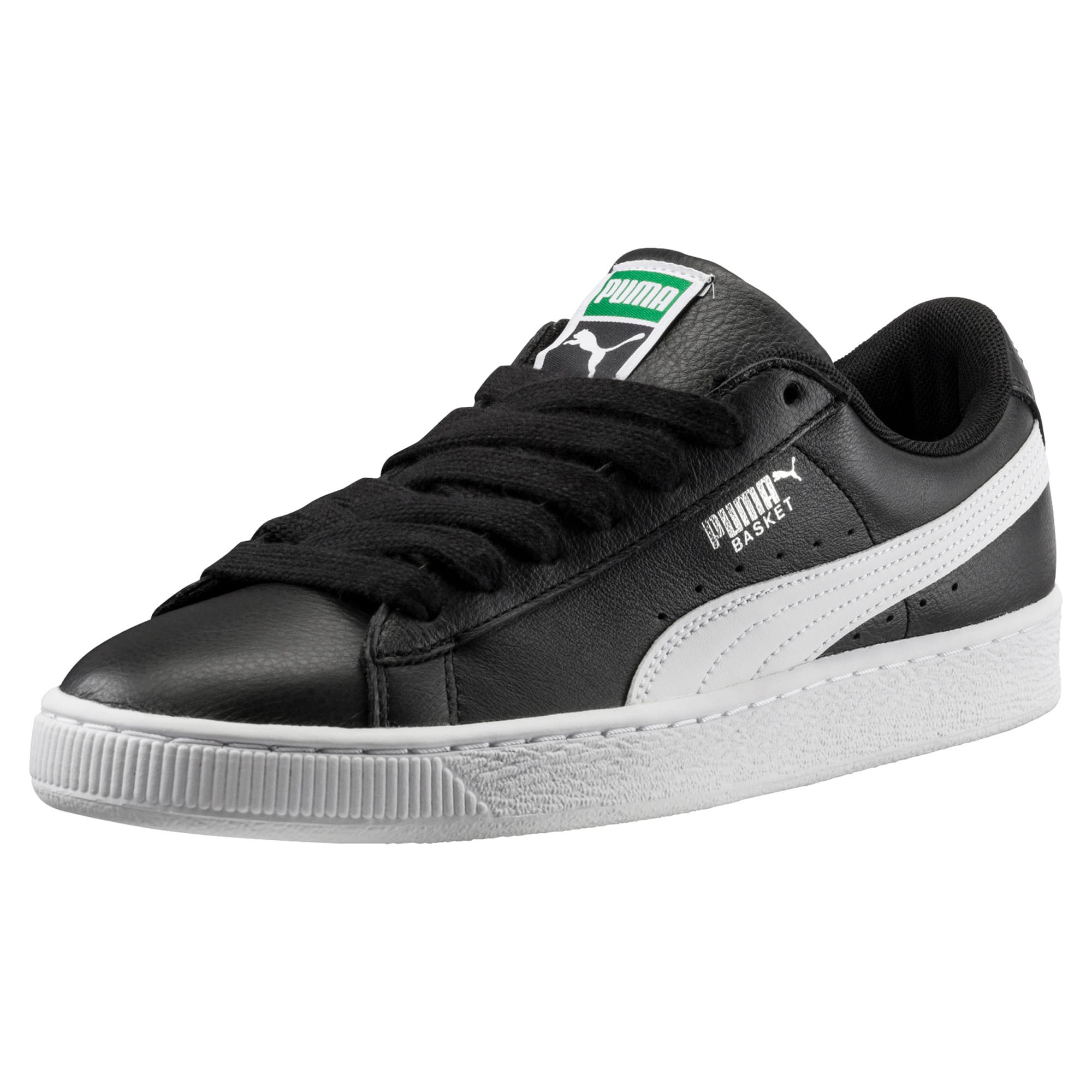Thumbnail 1 of Heritage Basket Classic Sneaker, black-white, medium