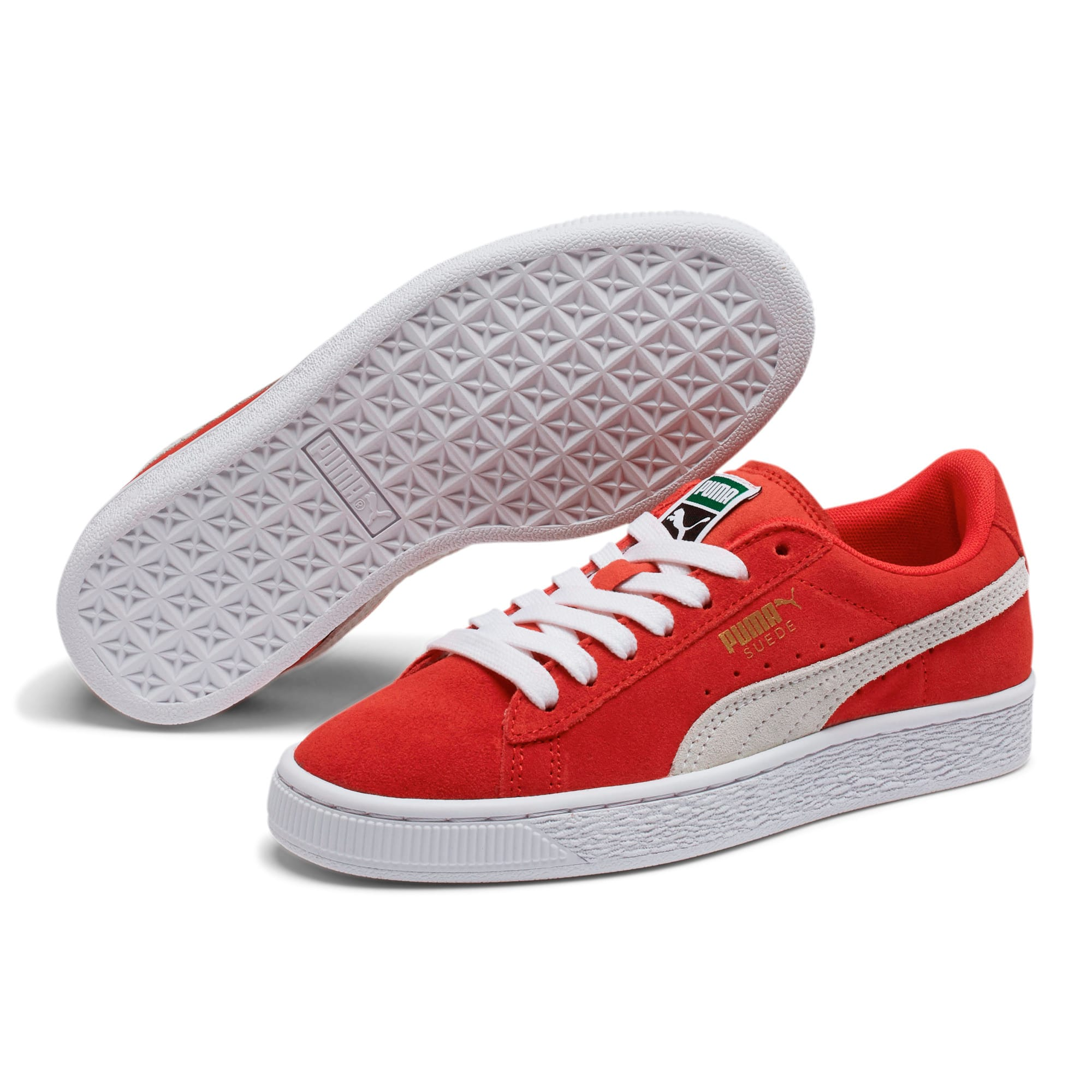 Thumbnail 2 of Suede Sneakers JR, high risk red-white, medium