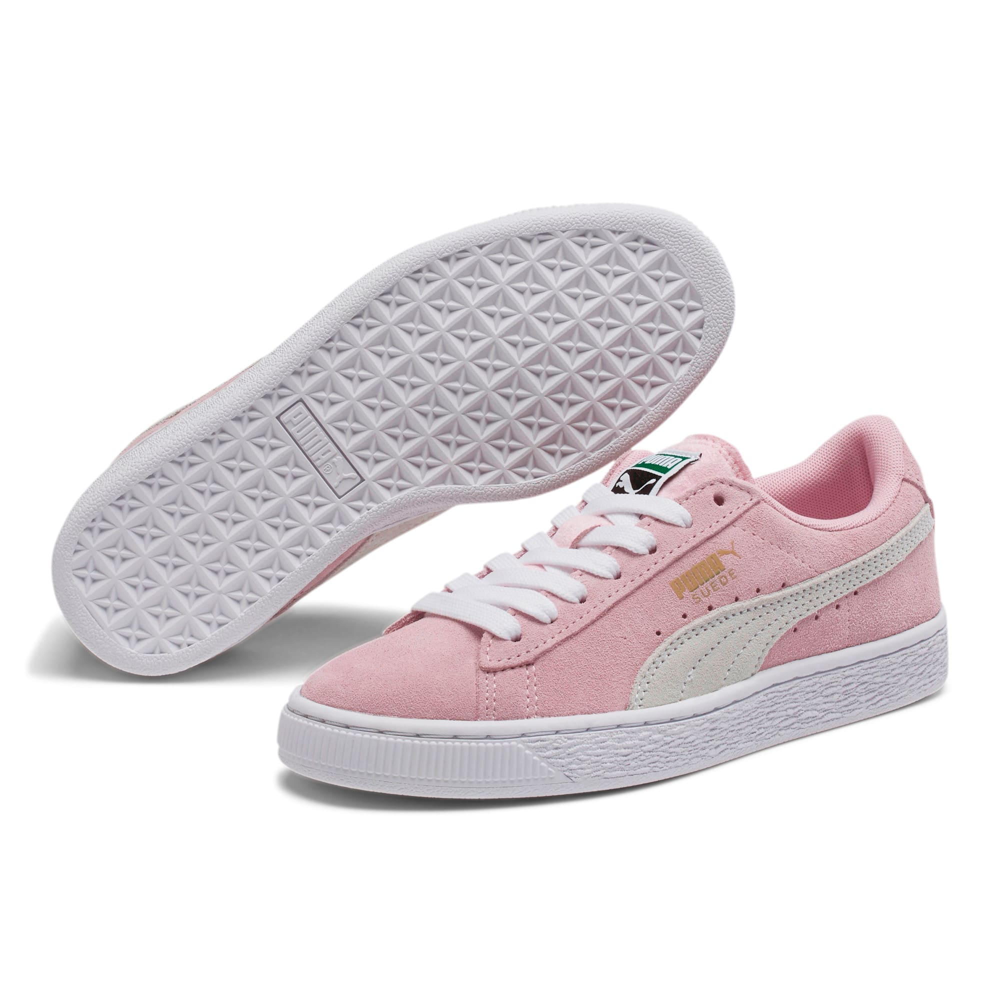 Zapatos deportivos Suede para JR, pink lady-white-team gold, grande