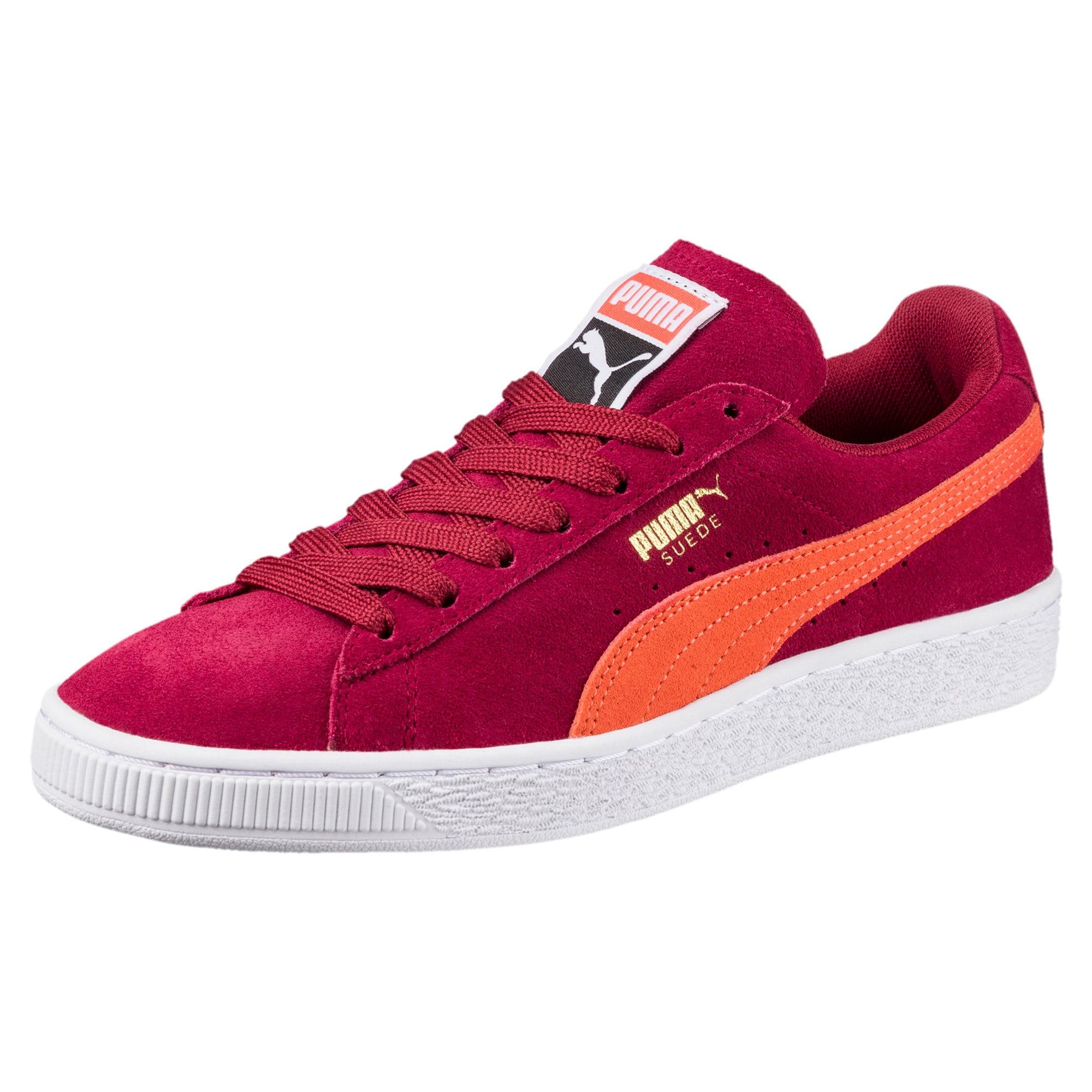 Thumbnail 1 of Suede Classic Women's Sneakers, Tibetan Red-Hot Coral, medium