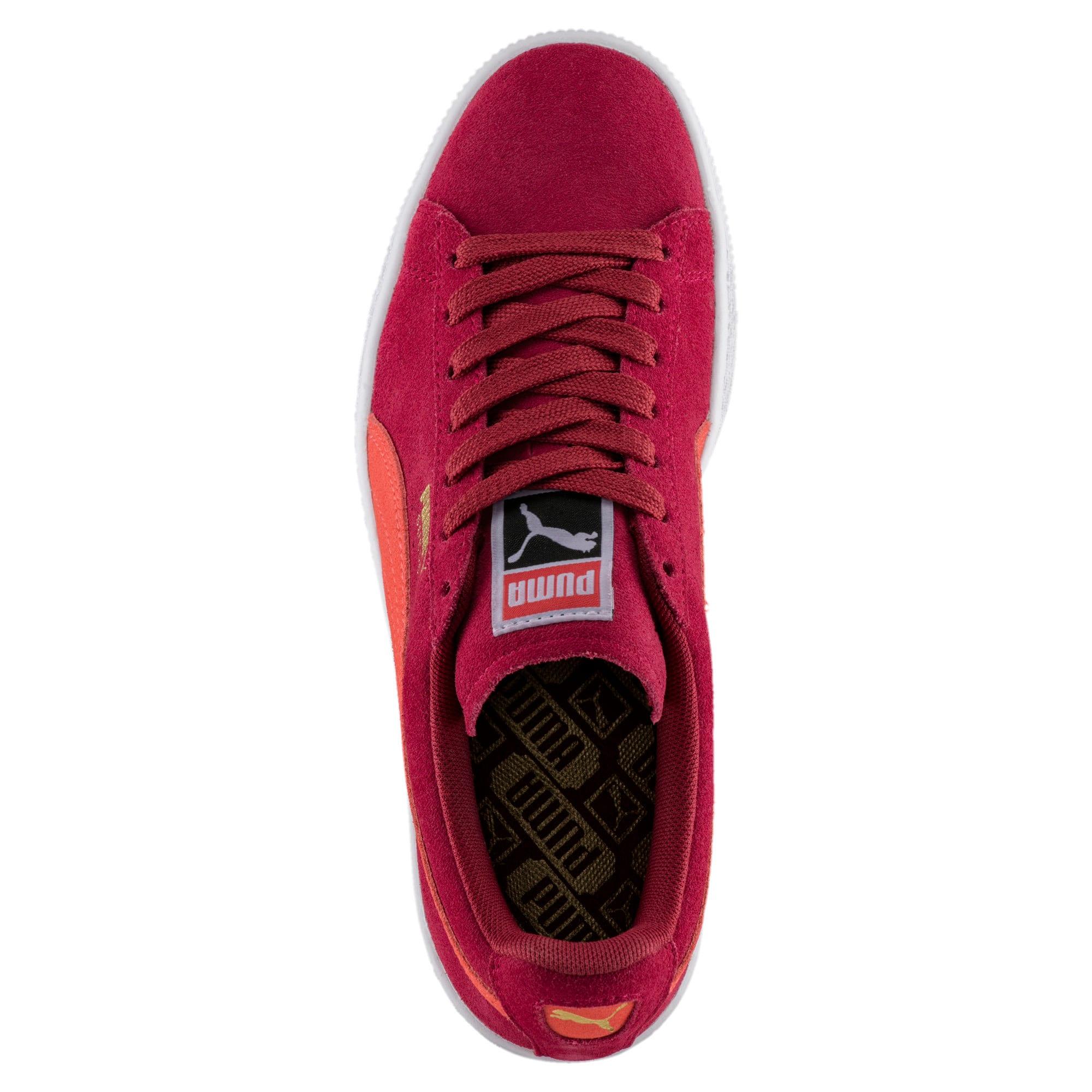Thumbnail 5 of Suede Classic Women's Sneakers, Tibetan Red-Hot Coral, medium
