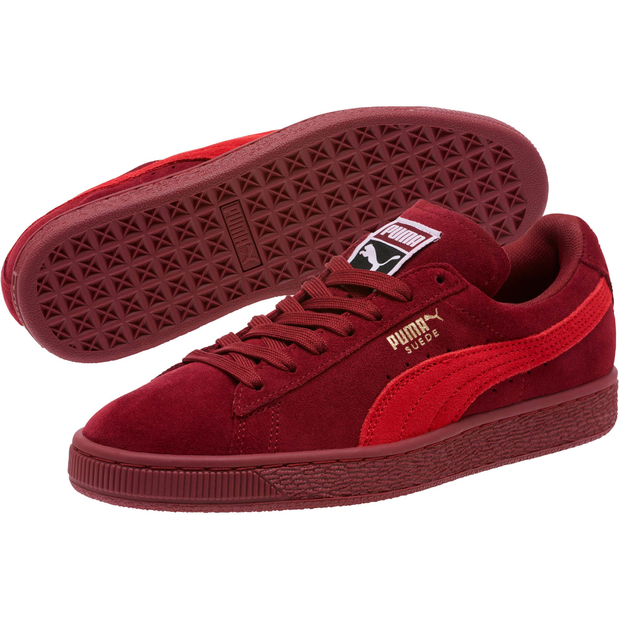 Thumbnail 2 of Suede Classic Women's Sneakers, Pomegranate-Ribbon Red, medium