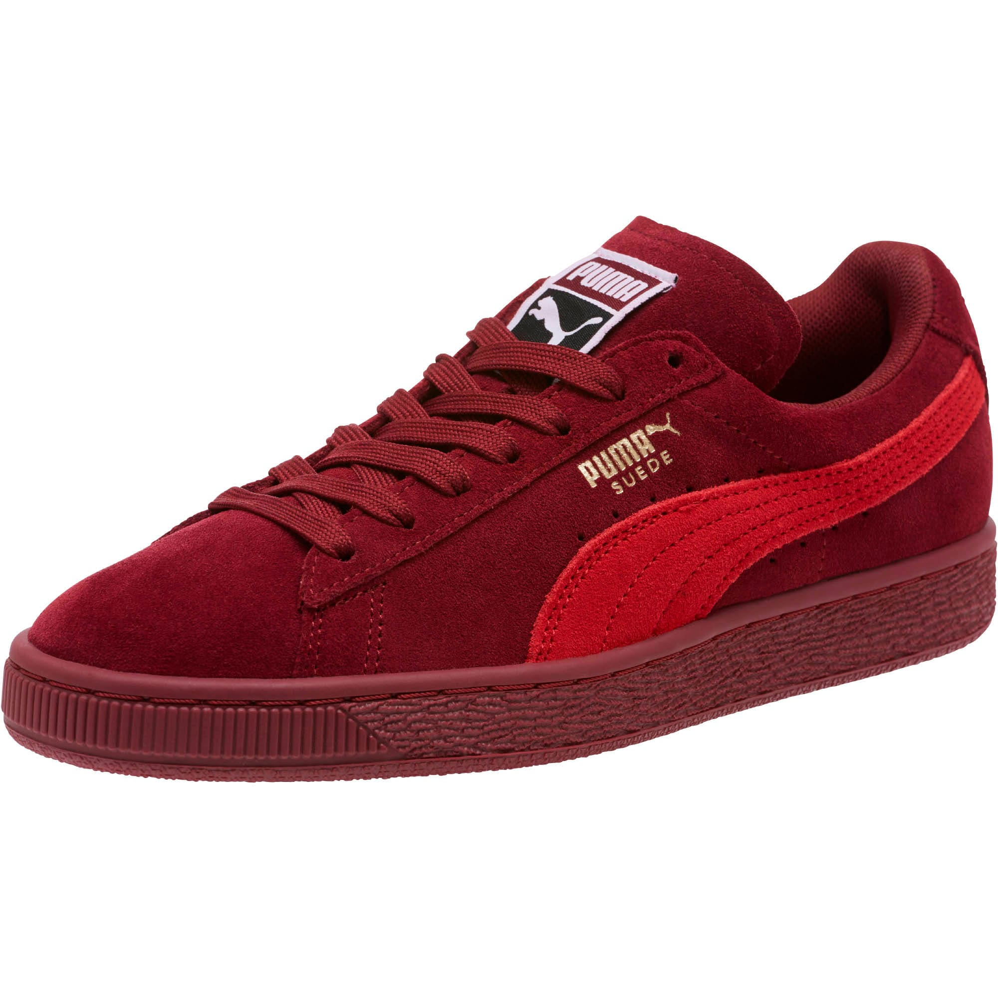 Thumbnail 1 of Suede Classic Women's Sneakers, Pomegranate-Ribbon Red, medium