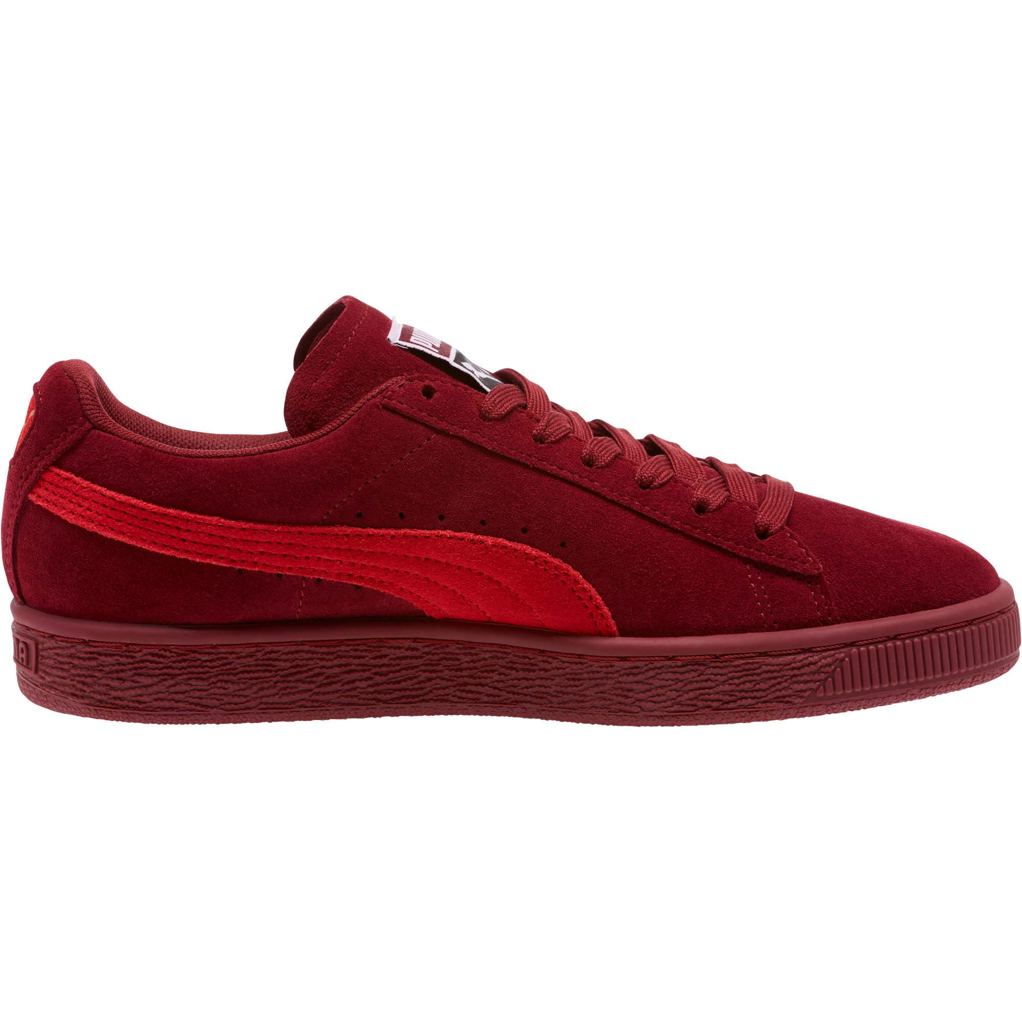 Thumbnail 3 of Suede Classic Women's Sneakers, Pomegranate-Ribbon Red, medium