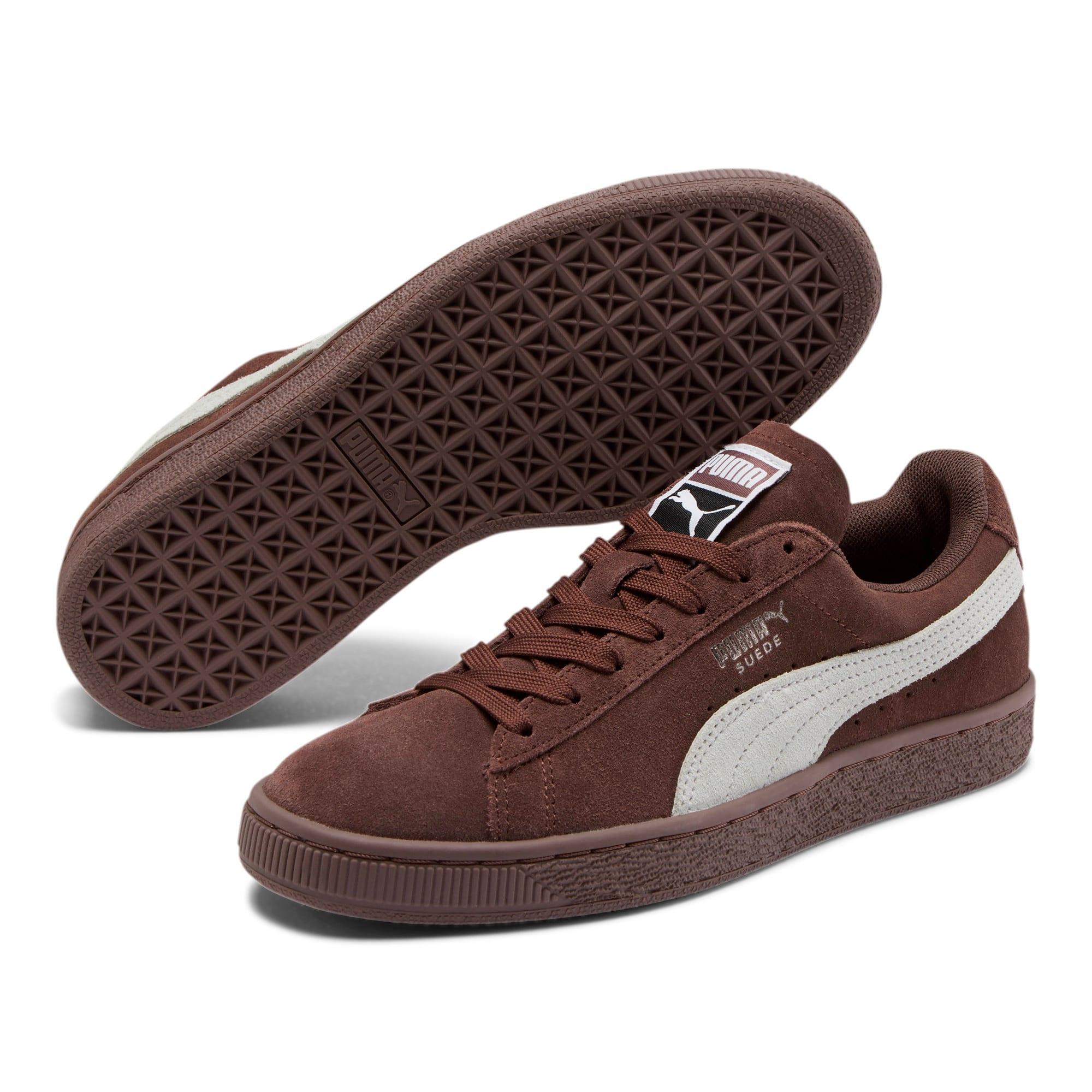 Thumbnail 2 of Suede Classic Women's Sneakers, Peppercorn-Puma White, medium