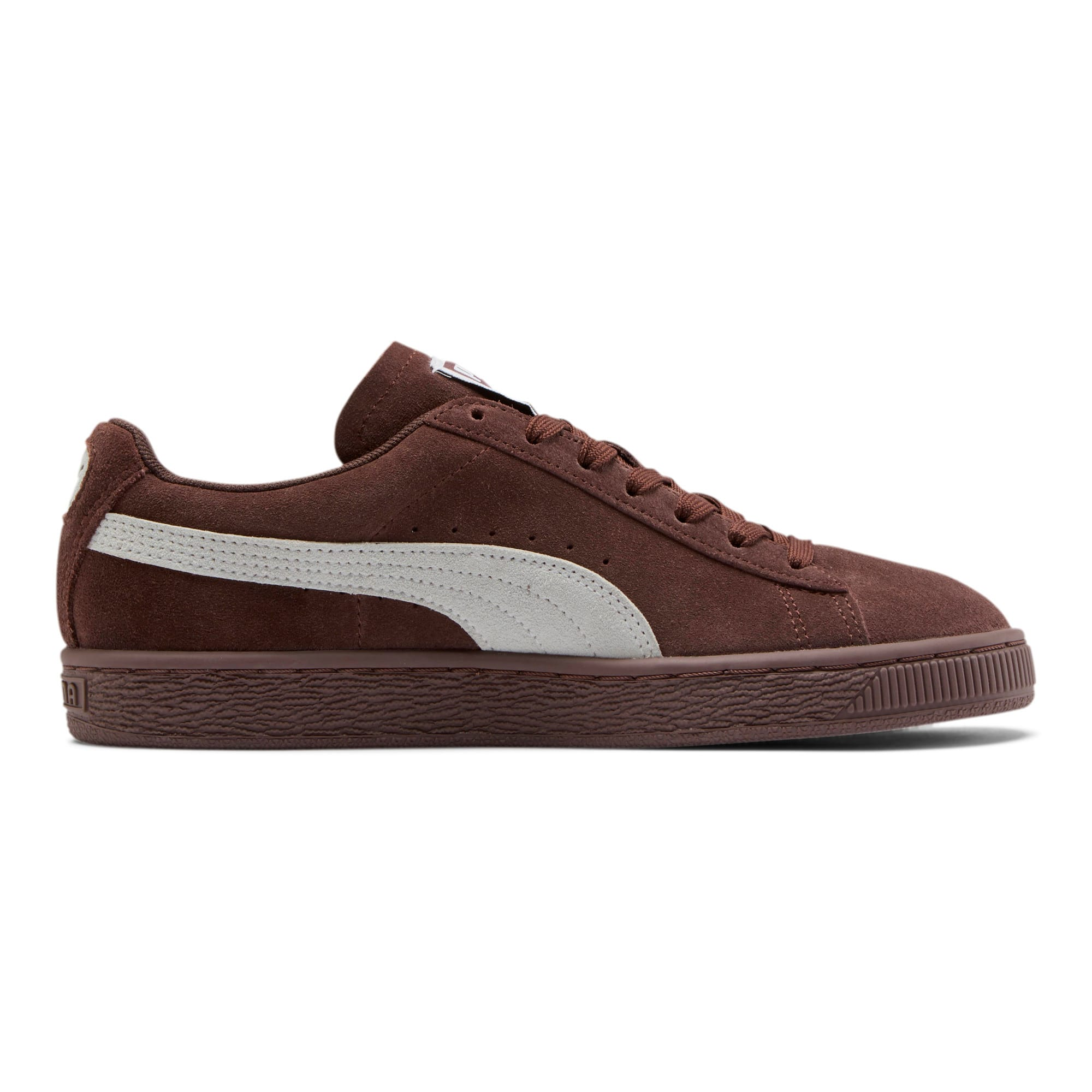 Thumbnail 5 of Suede Classic Women's Sneakers, Peppercorn-Puma White, medium